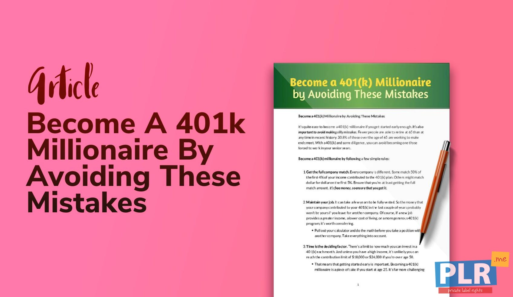 Become A 401k Millionaire By Avoiding These Mistakes