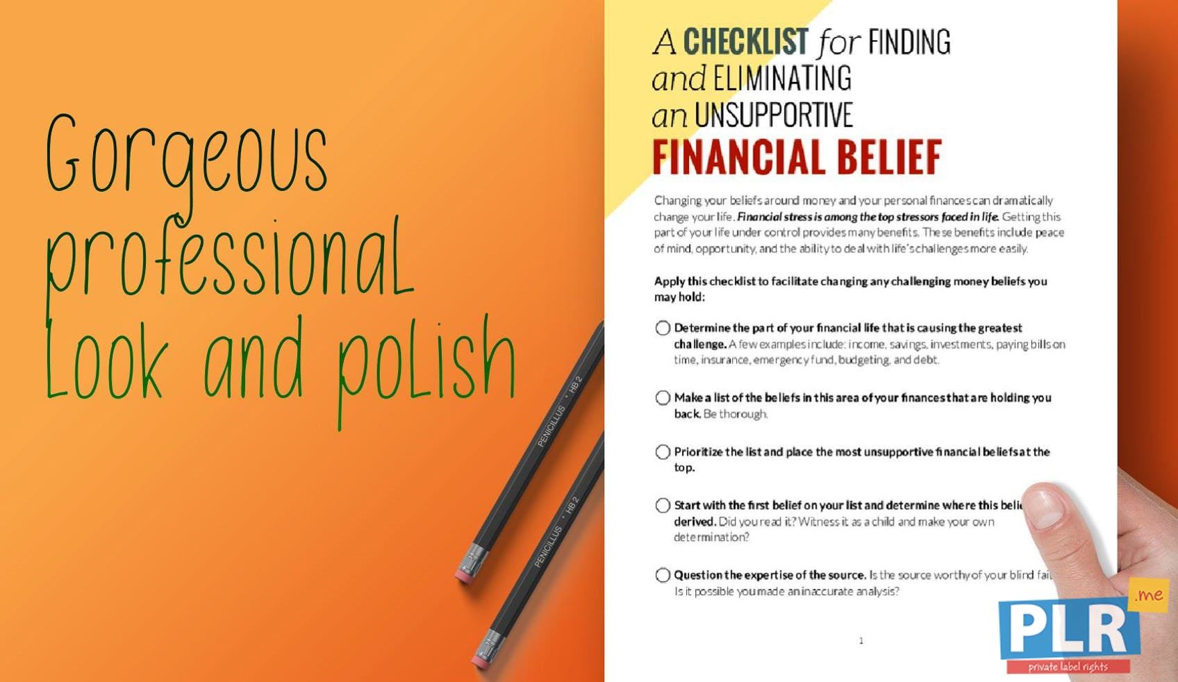 A Checklist For Finding And Eliminating An Unsupportive Financial Belief
