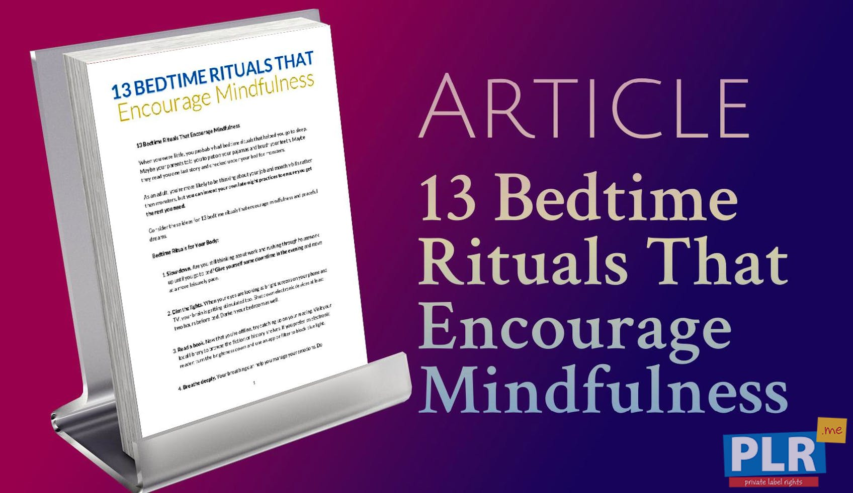 13 Bedtime Rituals That Encourage Mindfulness