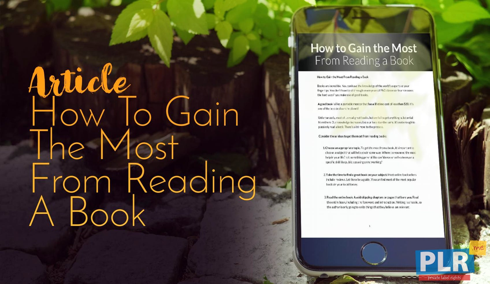 How To Gain The Most From Reading A Book