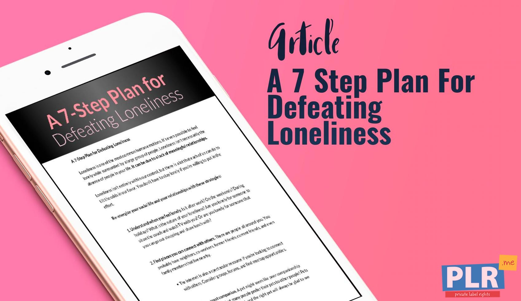 A 7 Step Plan For Defeating Loneliness