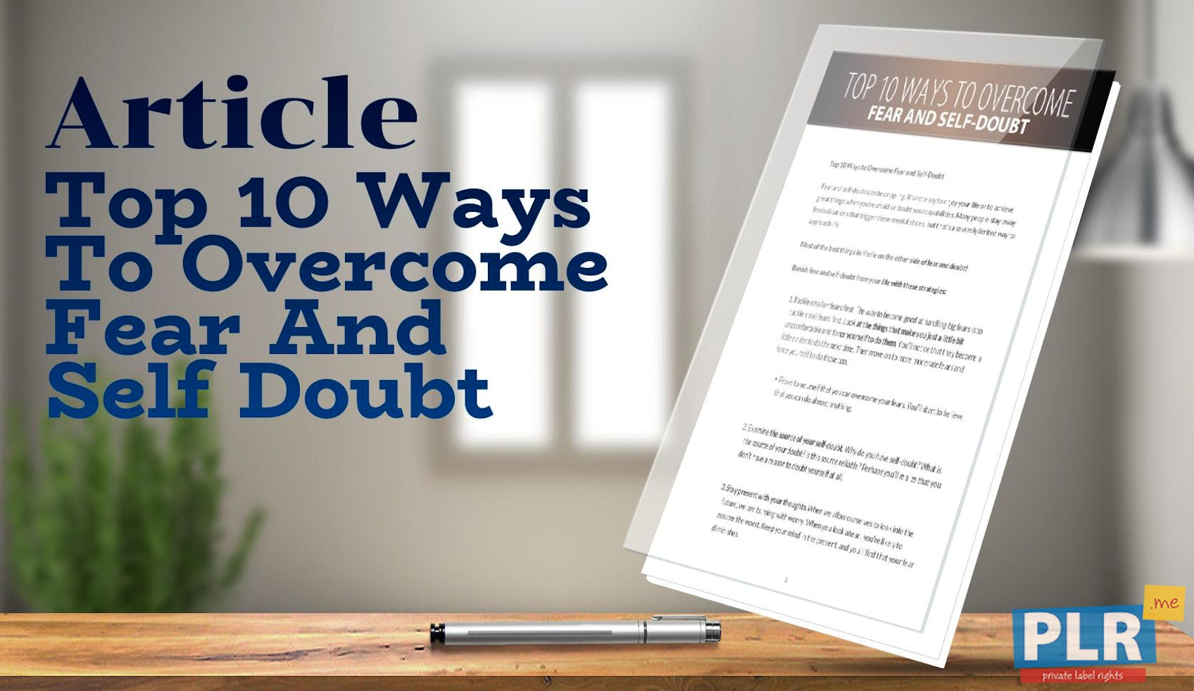 Top 10 Ways To Overcome Fear And Self Doubt