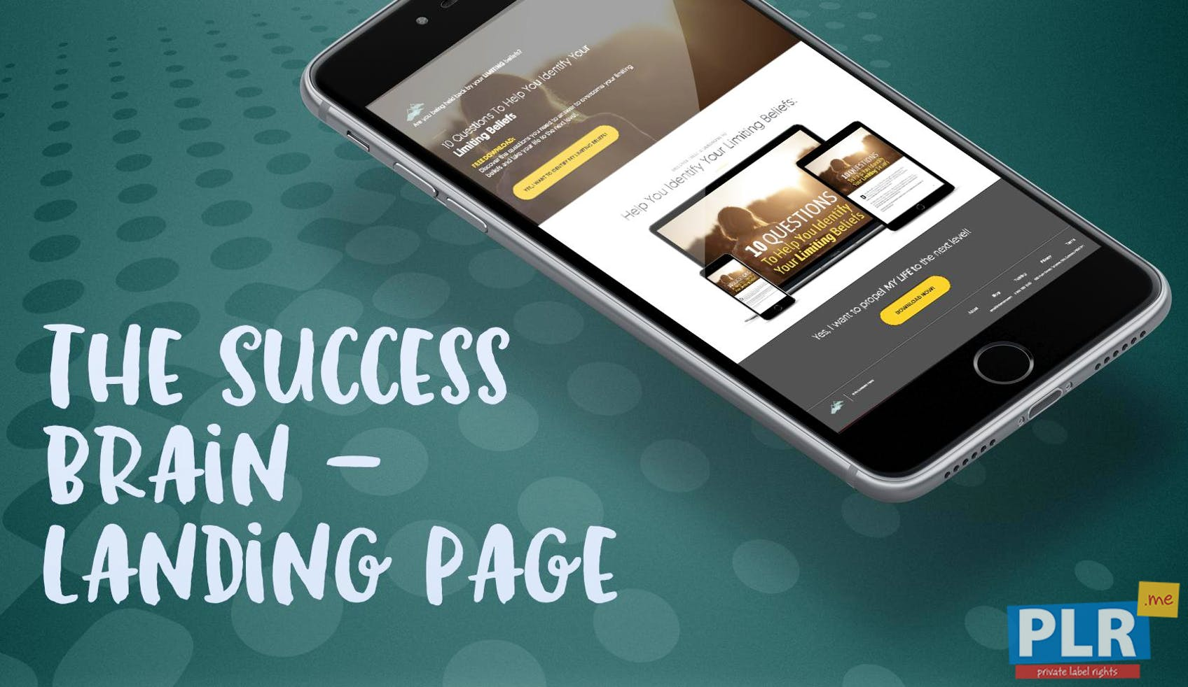 The Success Brain: SMART Goals And Healthy Habits - Landing Page