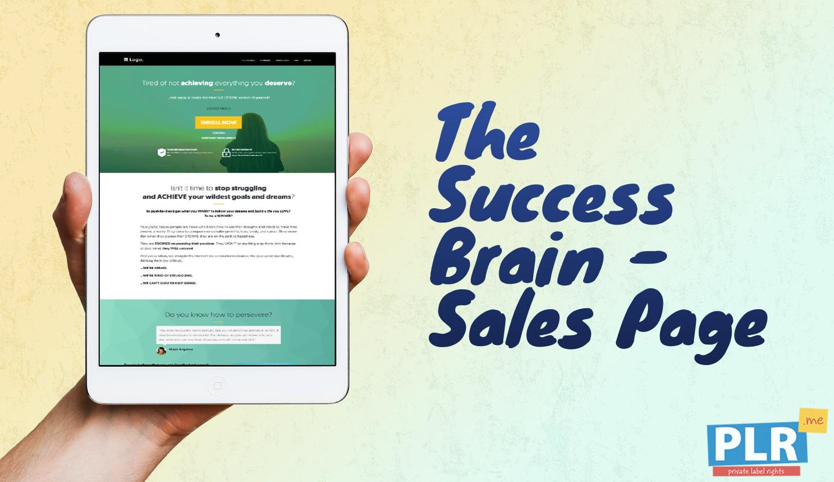 The Success Brain: SMART Goals And Healthy Habits - Sales Page