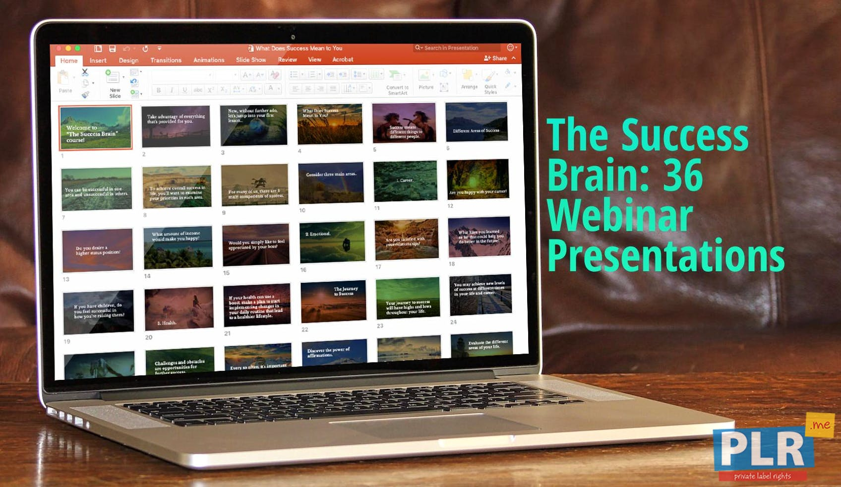The Success Brain: SMART Goals And Healthy Habits - Presentations