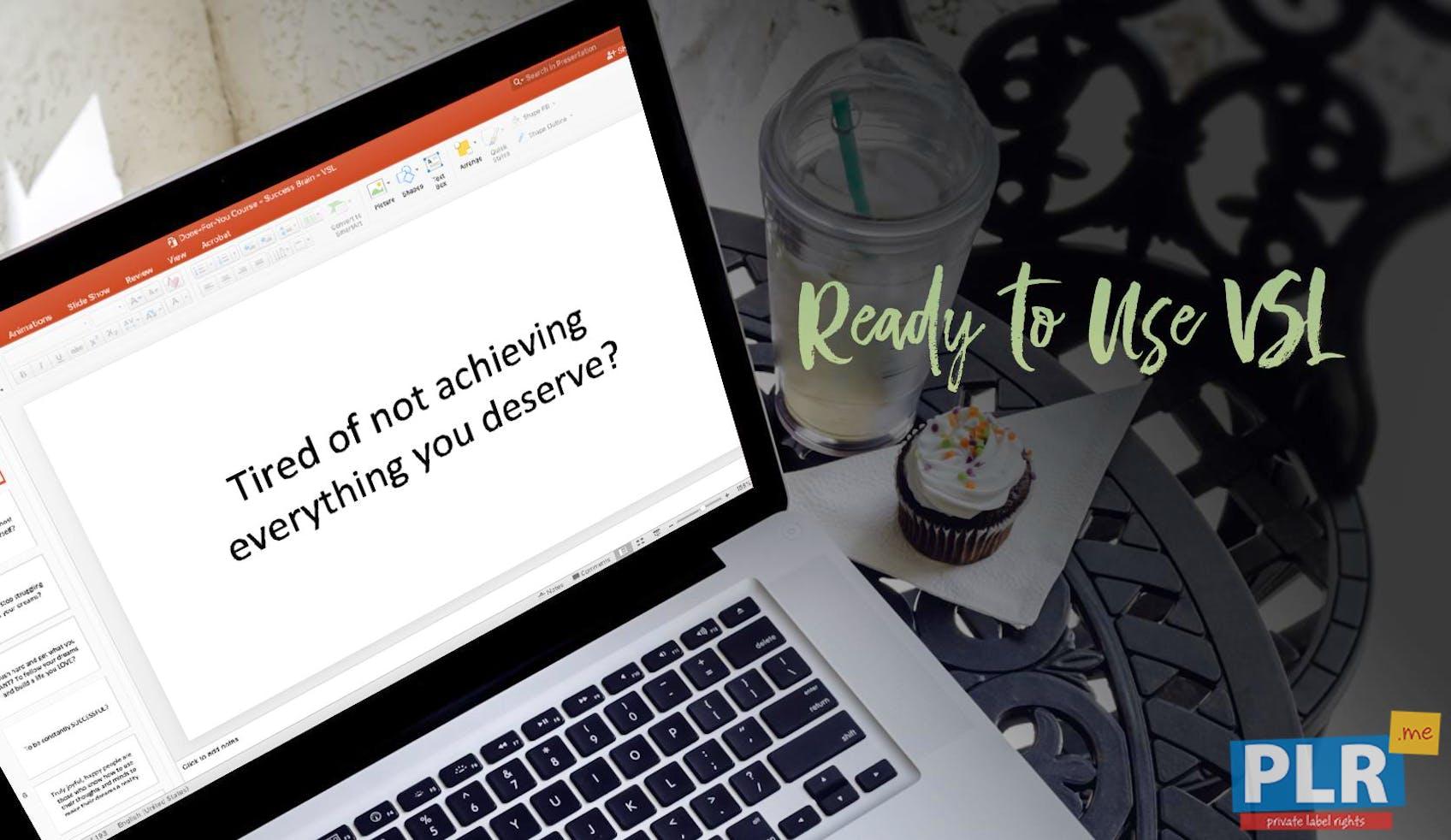 The Success Brain: SMART Goals And Healthy Habits - Video Sales Letter Slides