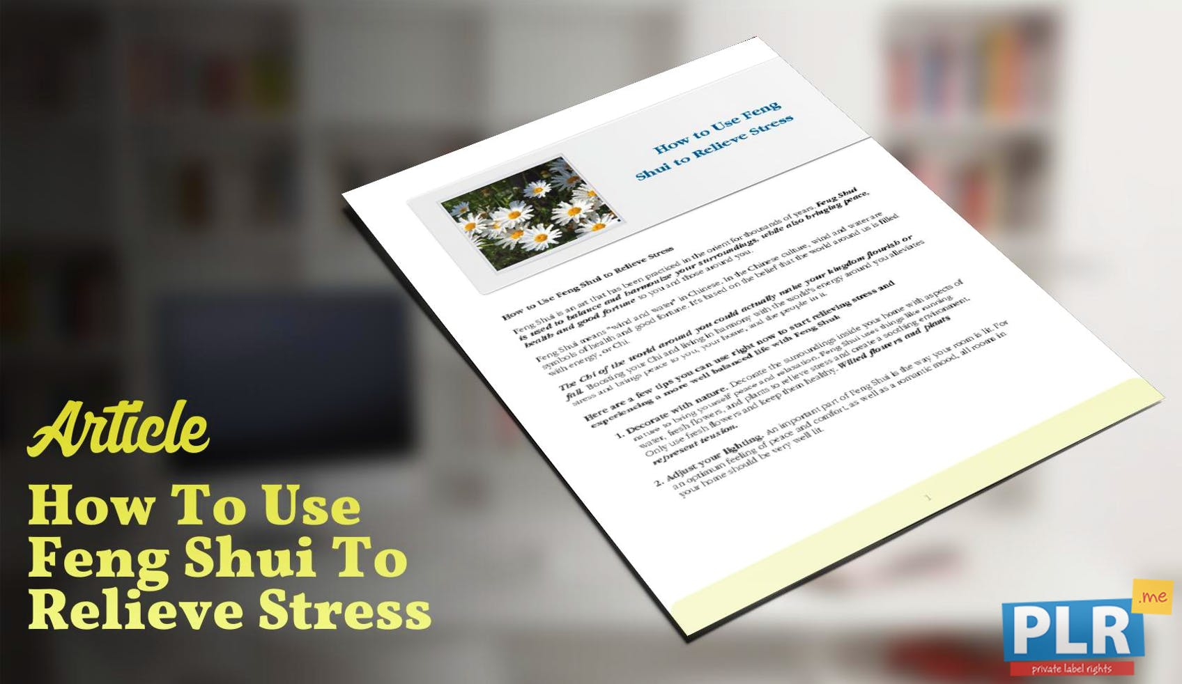 How To Use Feng Shui To Relieve Stress