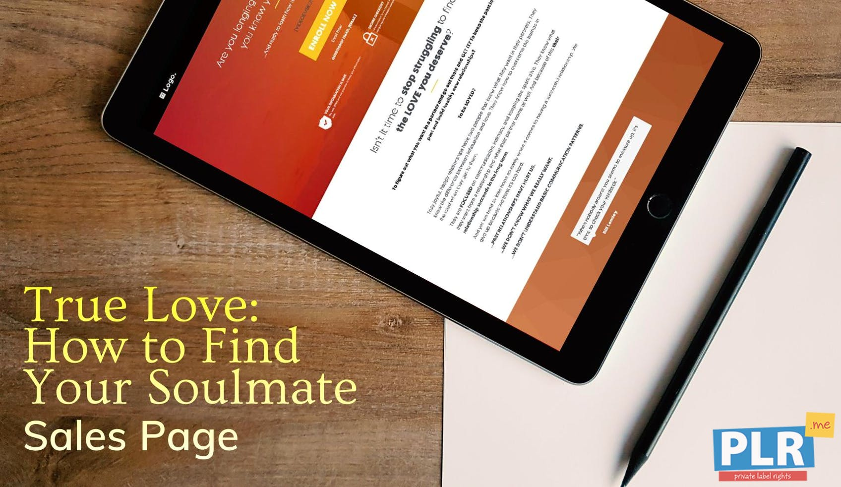 True Love: How To Find Your Soulmate - Sales Page