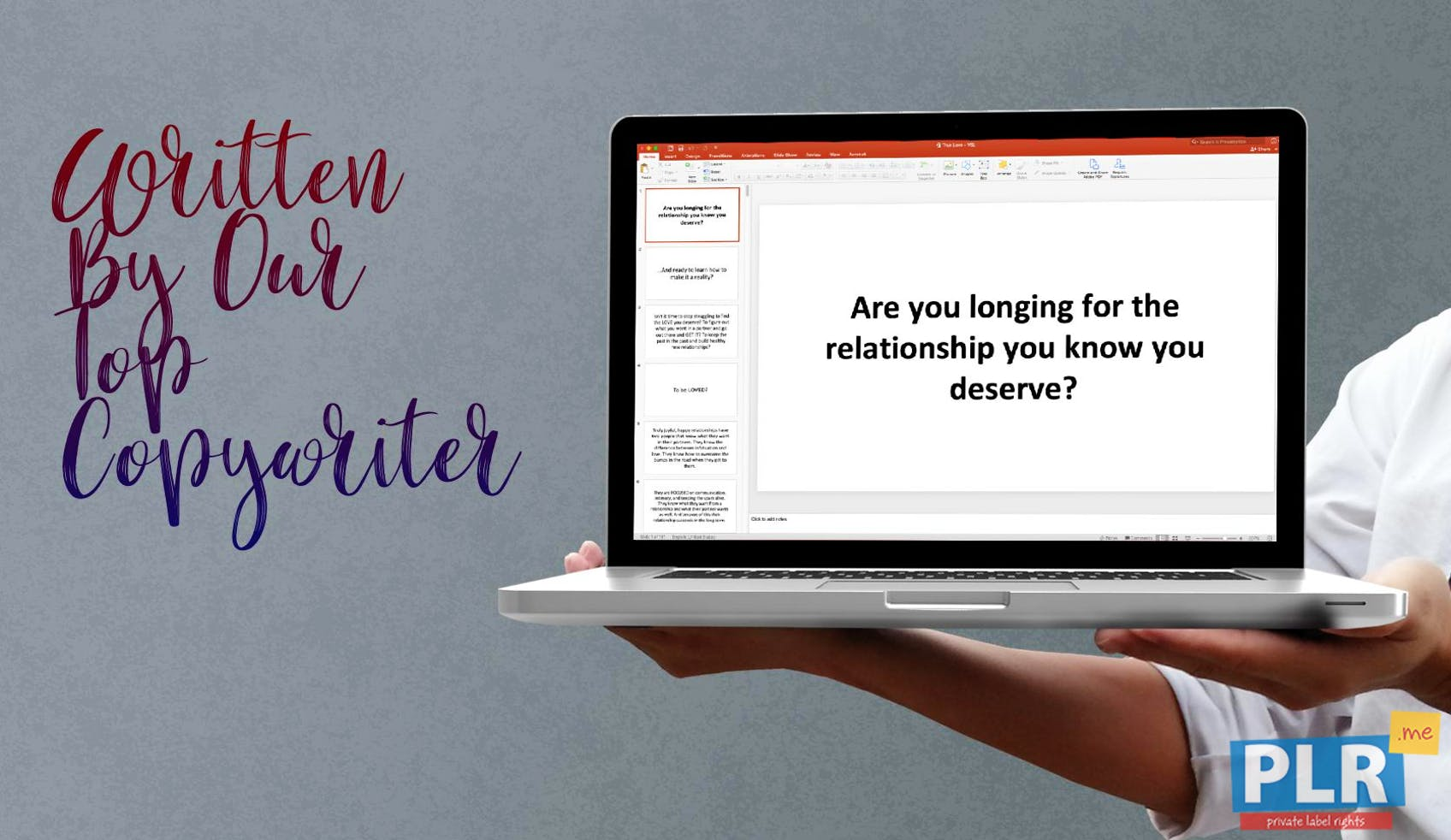 True Love: How To Find Your Soulmate - Video Sales Letter Slides