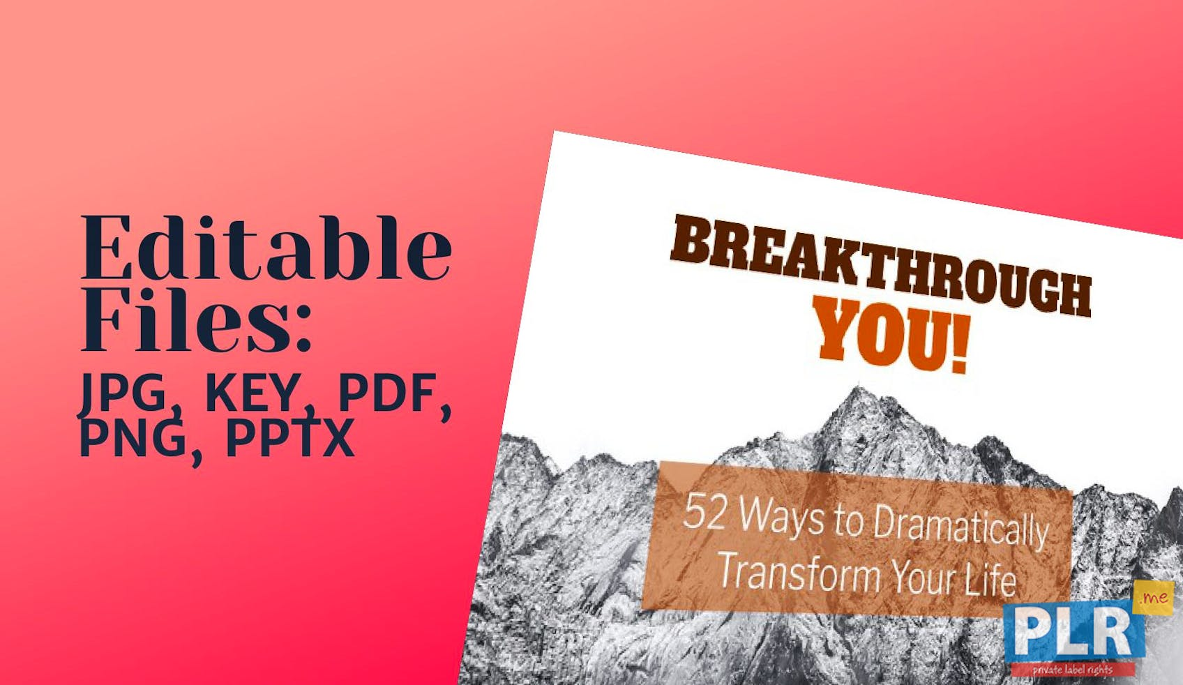 Breakthrough You 52 Ways To Dramatically Transform Your Life Slide Deck