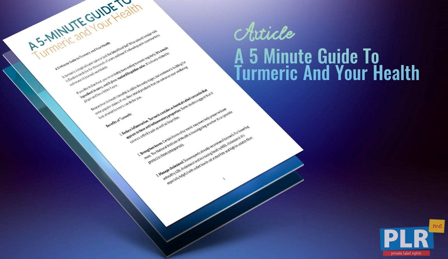A 5 Minute Guide To Turmeric And Your Health