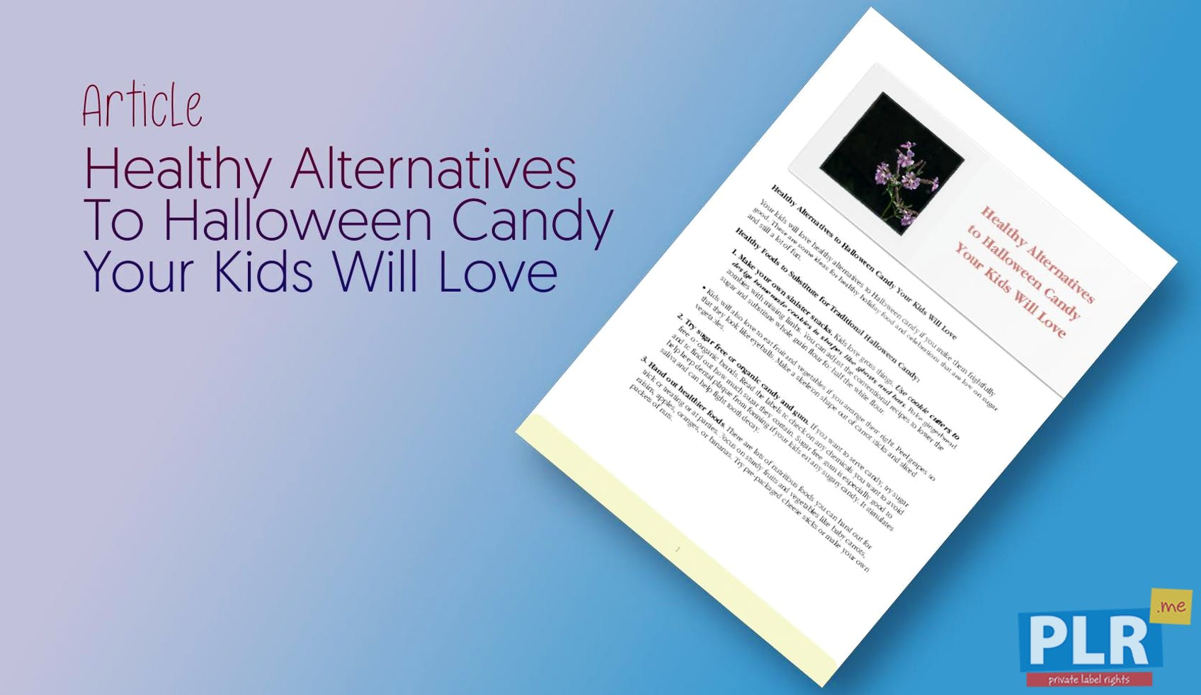 Healthy Alternatives To Halloween Candy Your Kids Will Love
