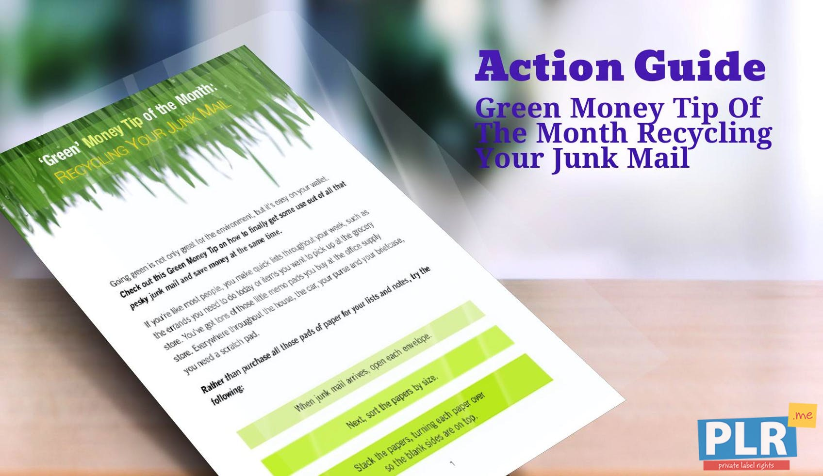 Green Money Tip Of The Month Recycling Your Junk Mail