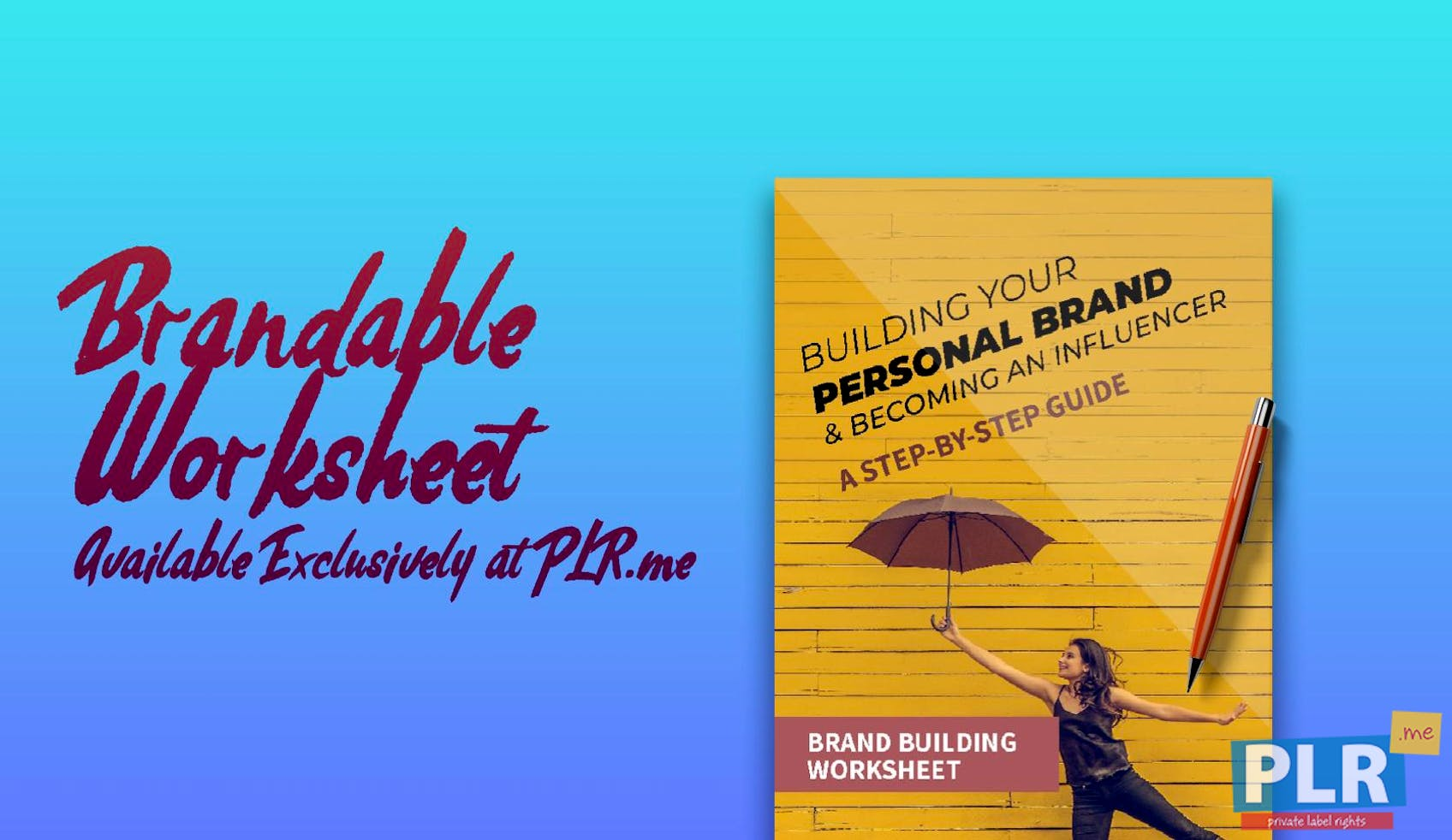 Building Your Personal Brand - Brand Building Worksheet