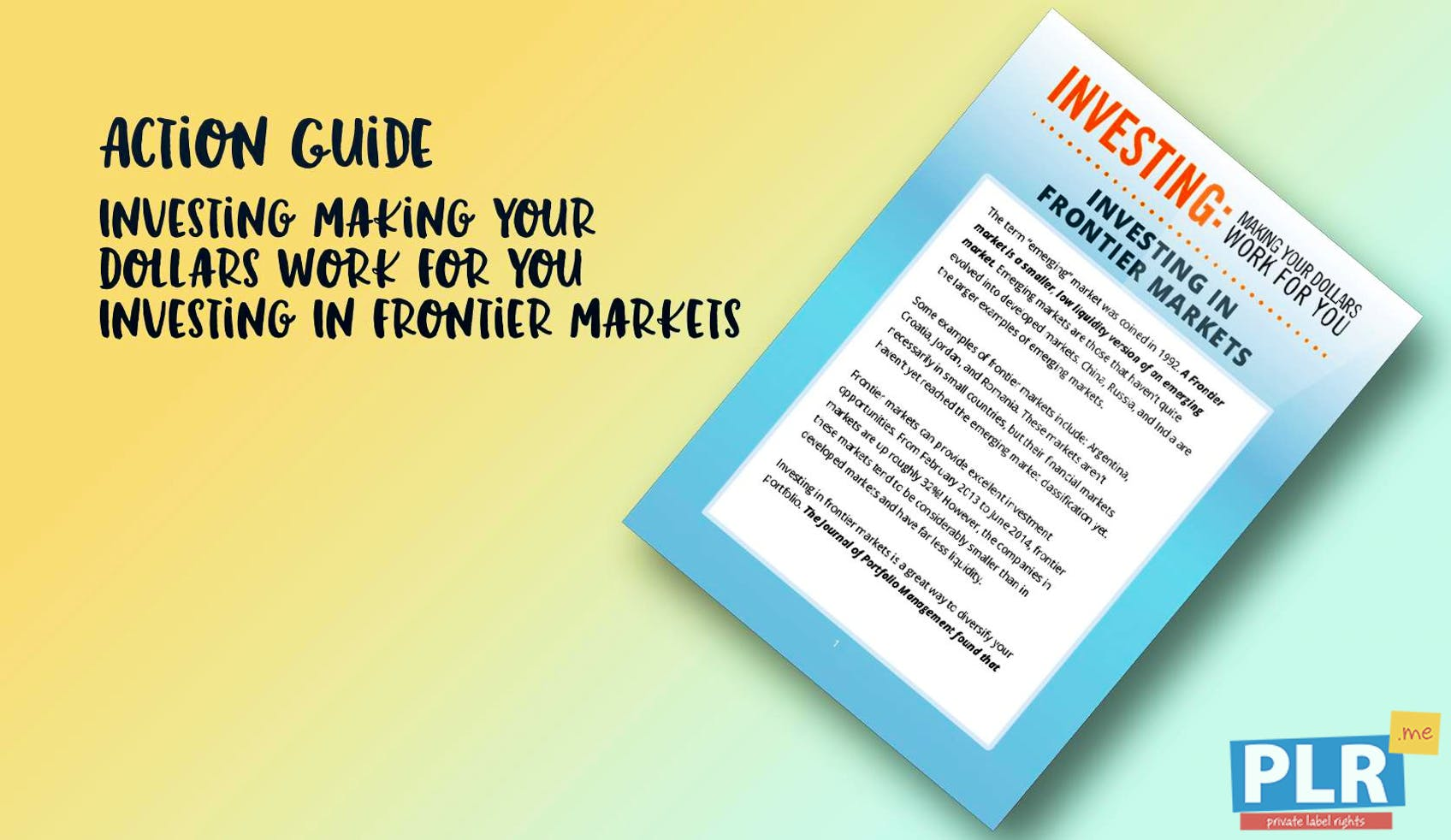 Investing Making Your Dollars Work For You Investing In Frontier Markets