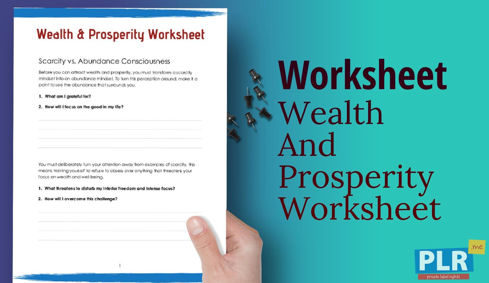 Wealth And Prosperity Worksheet