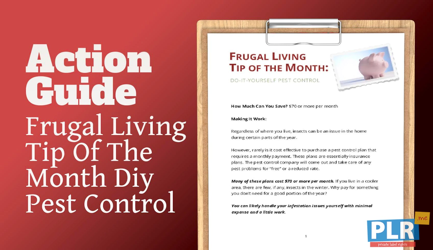 Frugal Living Tip Of The Month Diy Pest Control