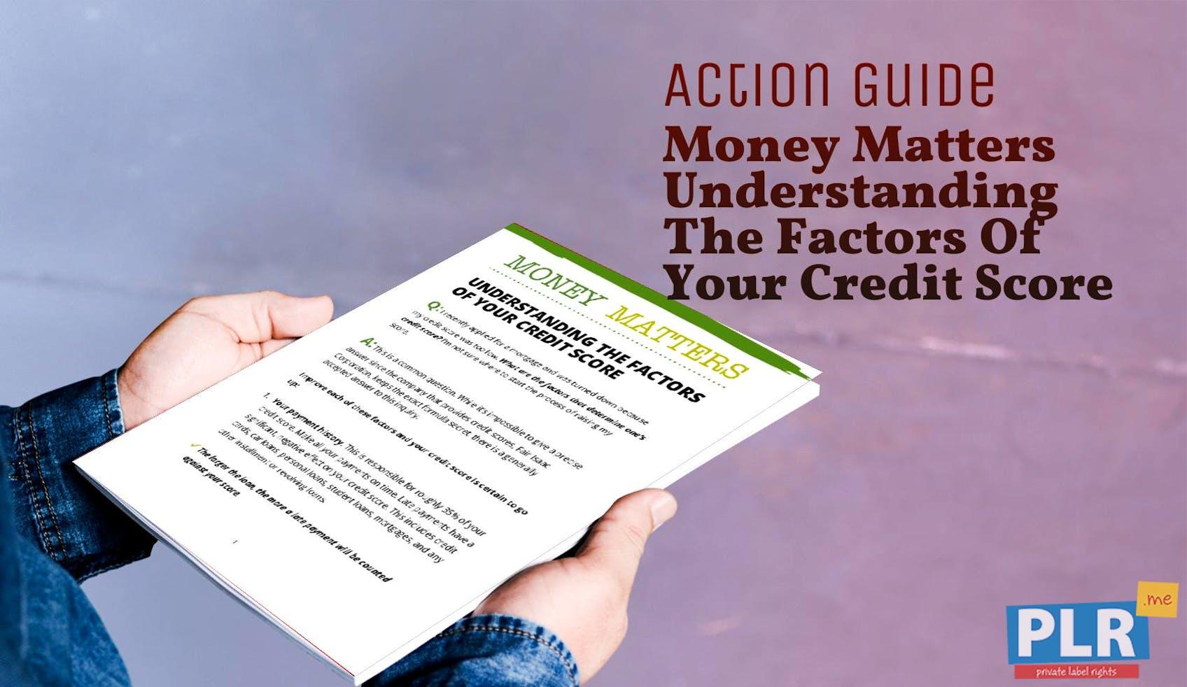 Money Matters Understanding The Factors Of Your Credit Score