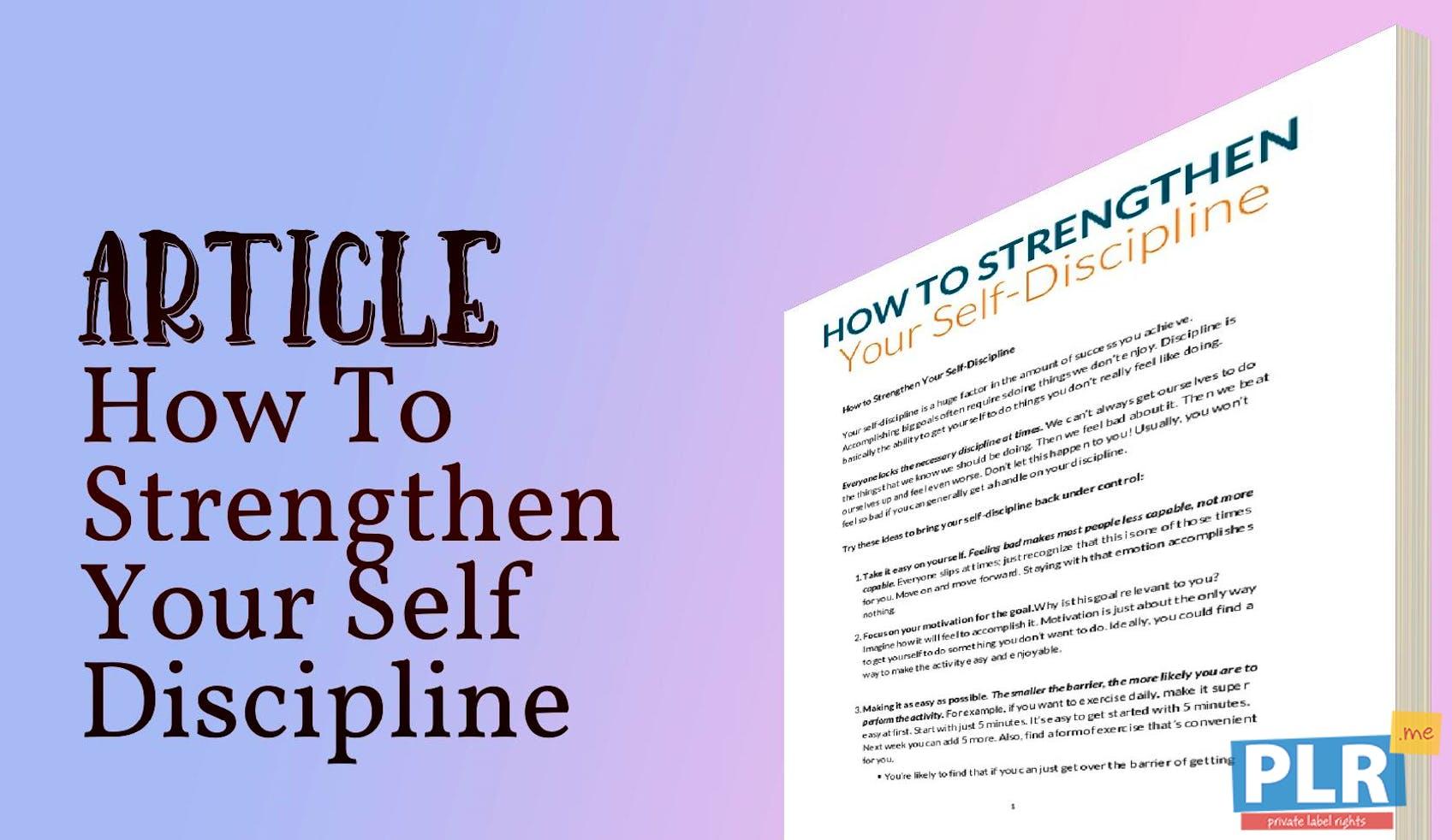 article on discipline