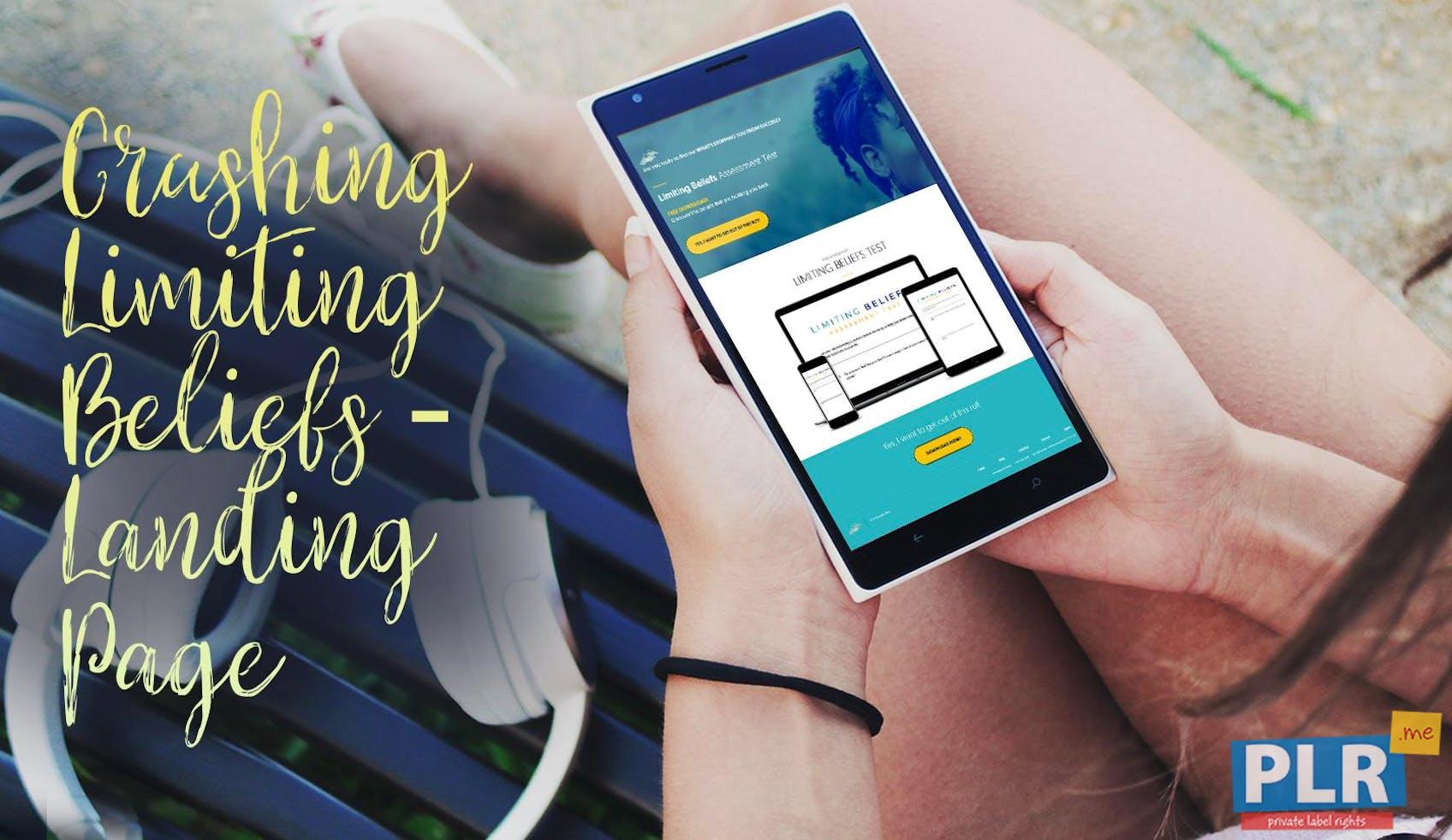 Crushing Limiting Beliefs - Landing Page