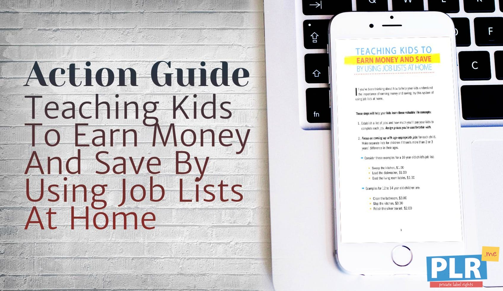 Teaching Kids To Earn Money And Save By Using Job Lists At Home