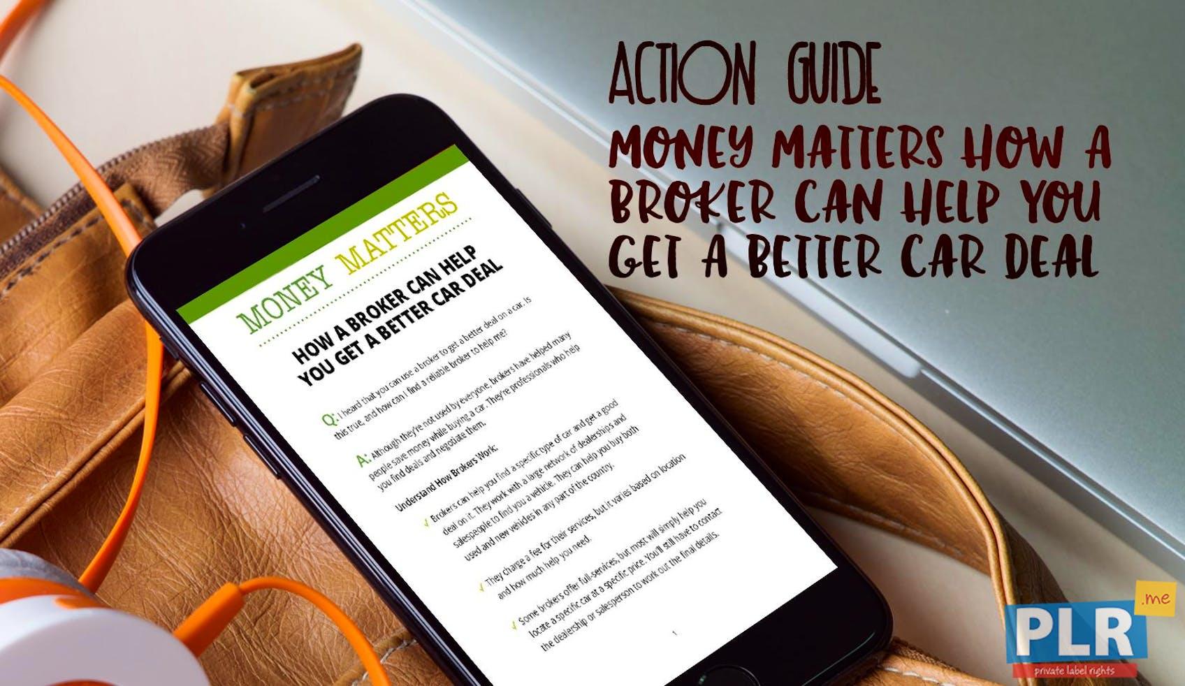 Money Matters How A Broker Can Help You Get A Better Car Deal