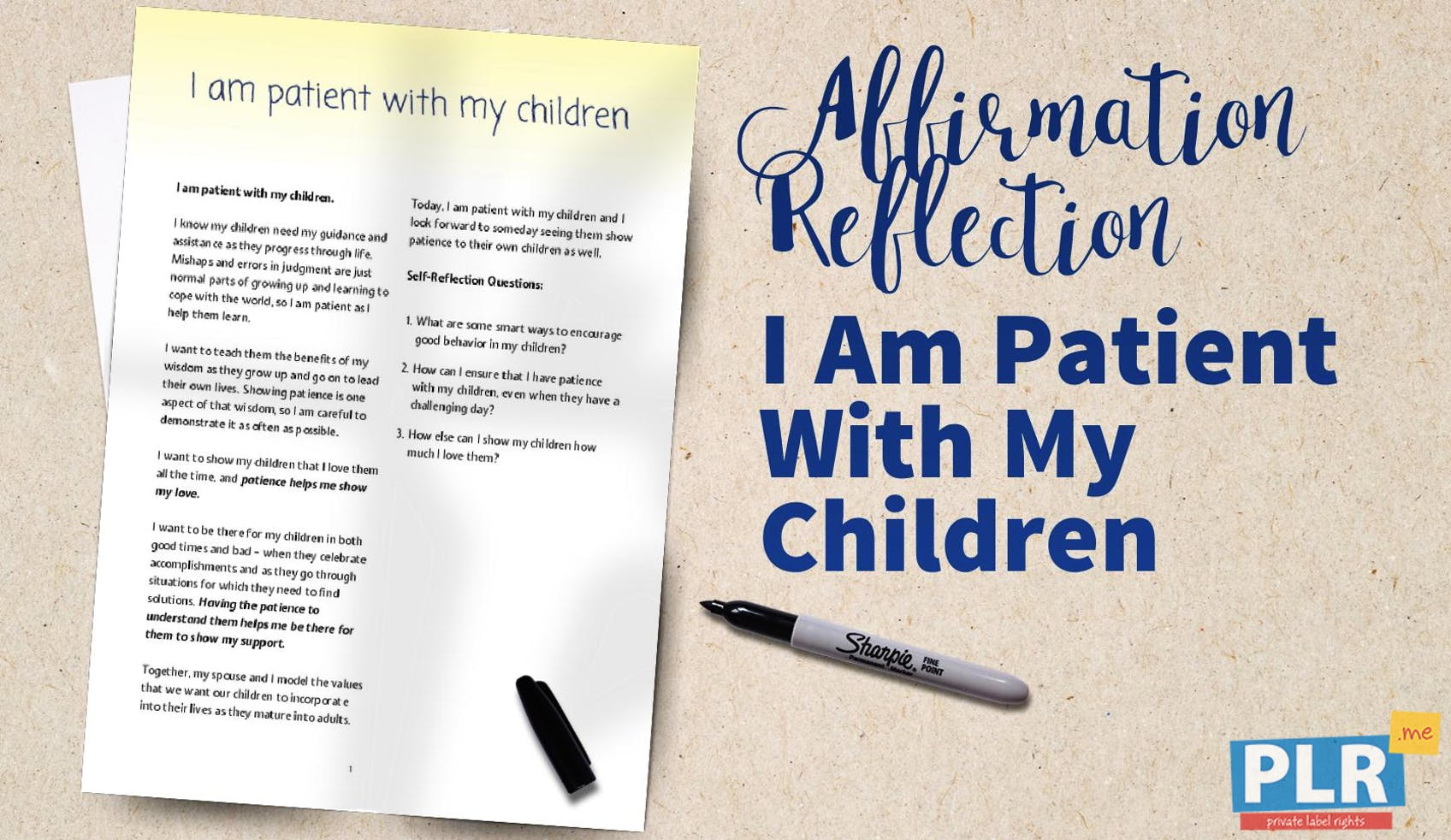 Why Parents Need To Be Patient With >> Plr Affirmation Reflections I Am Patient With My Children Plr Me