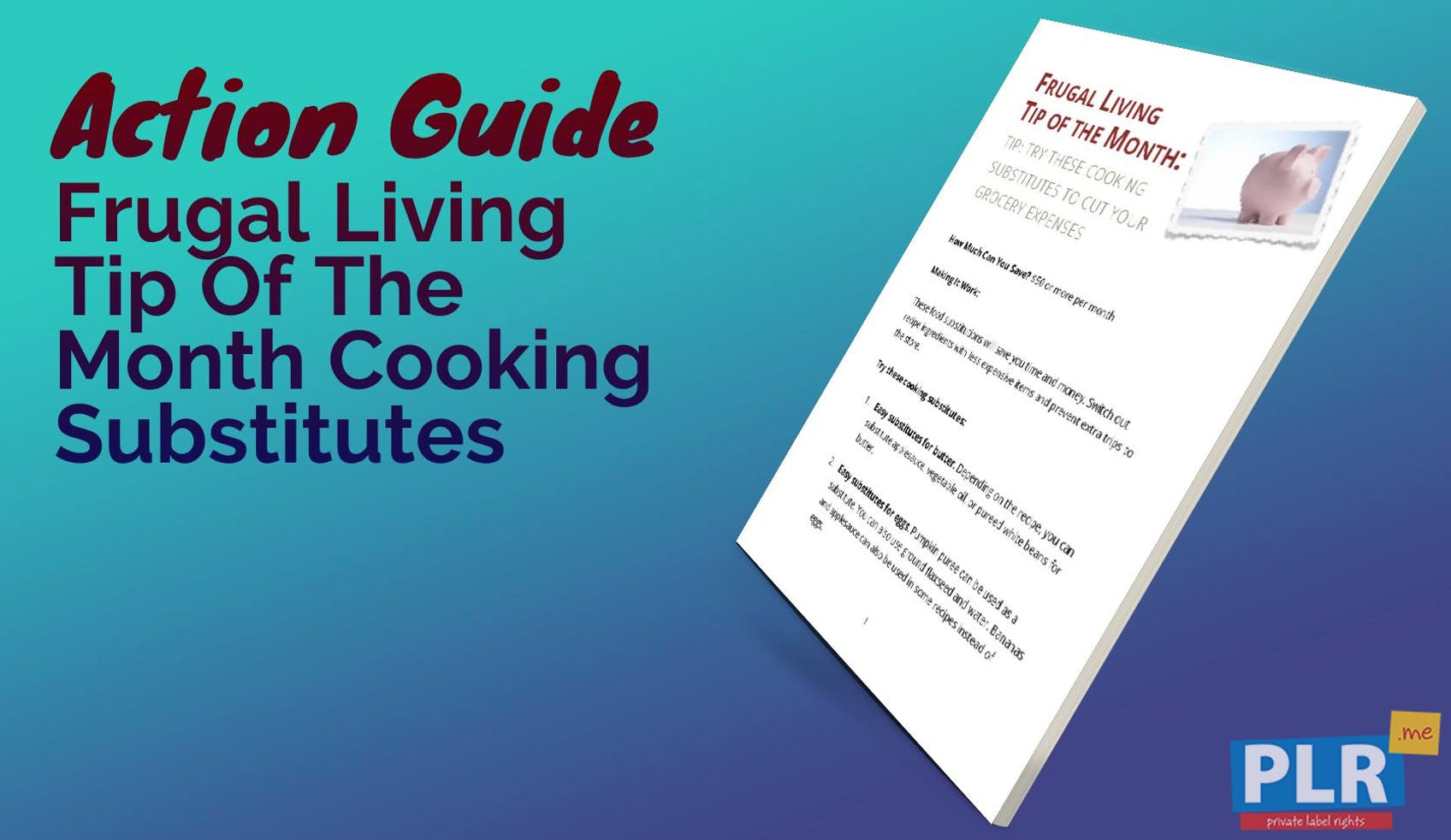 Frugal Living Tip Of The Month Cooking Substitutes