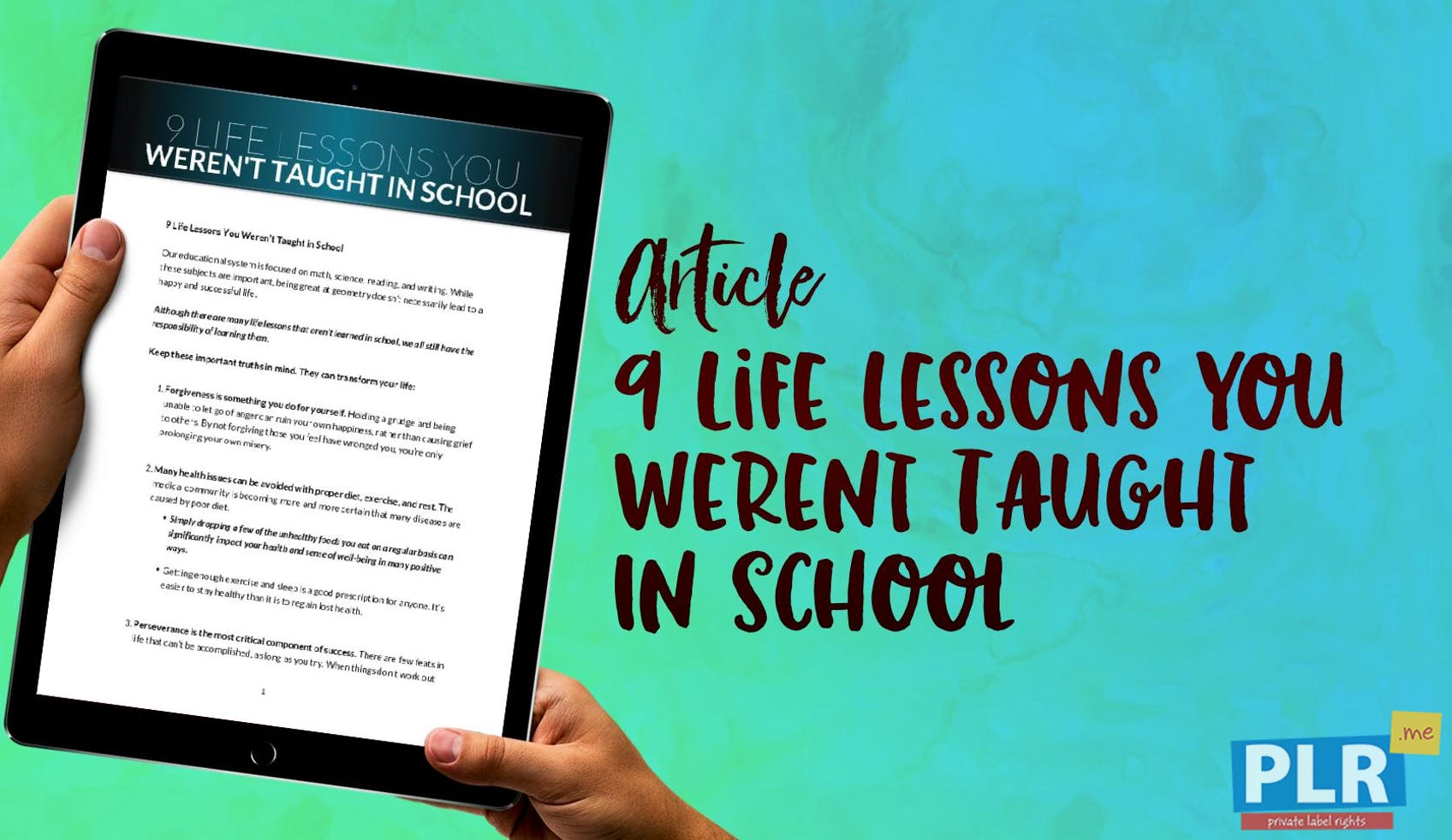 9 Life Lessons You Werent Taught In School