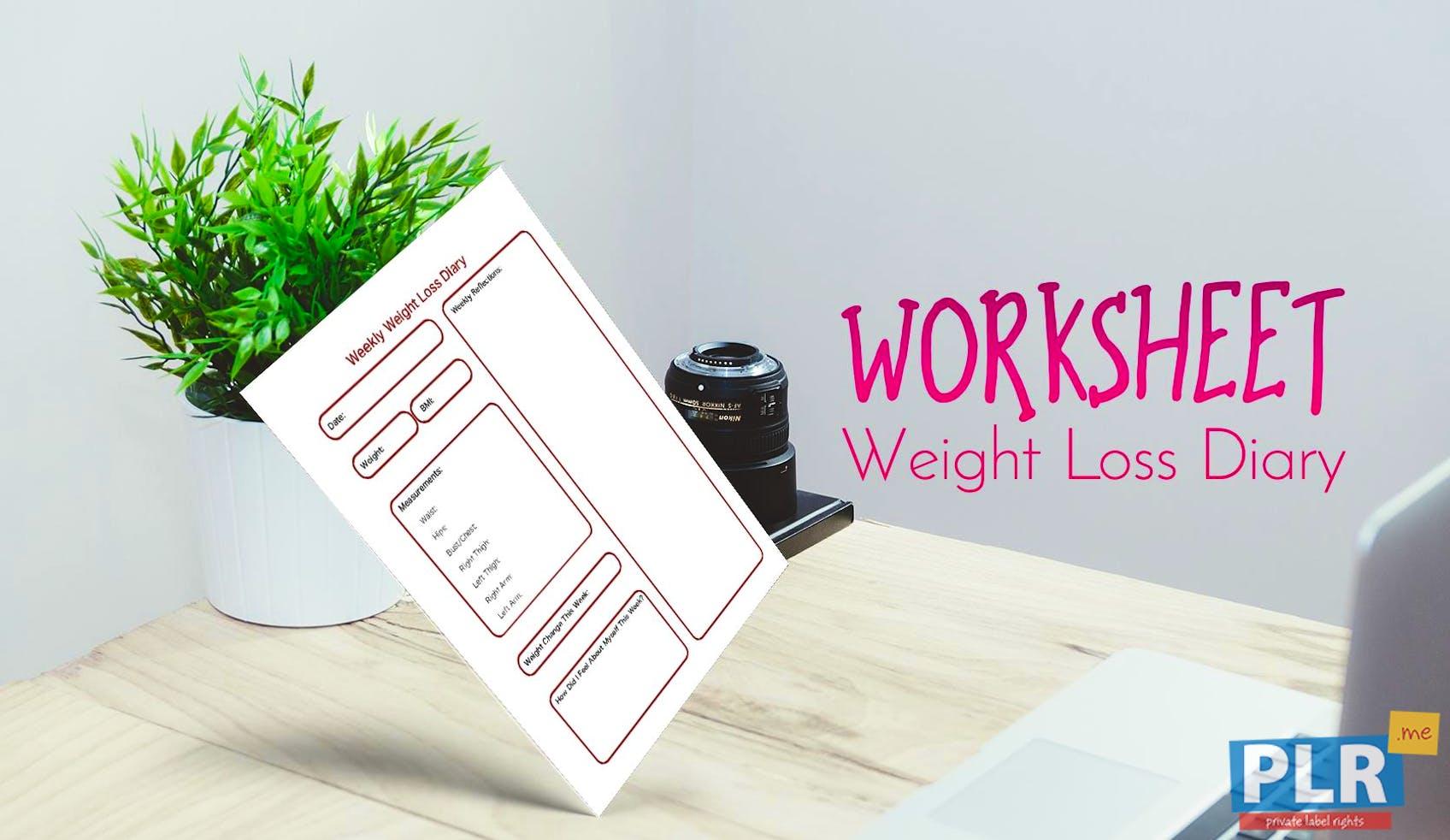 plr worksheets weight loss diary plr me