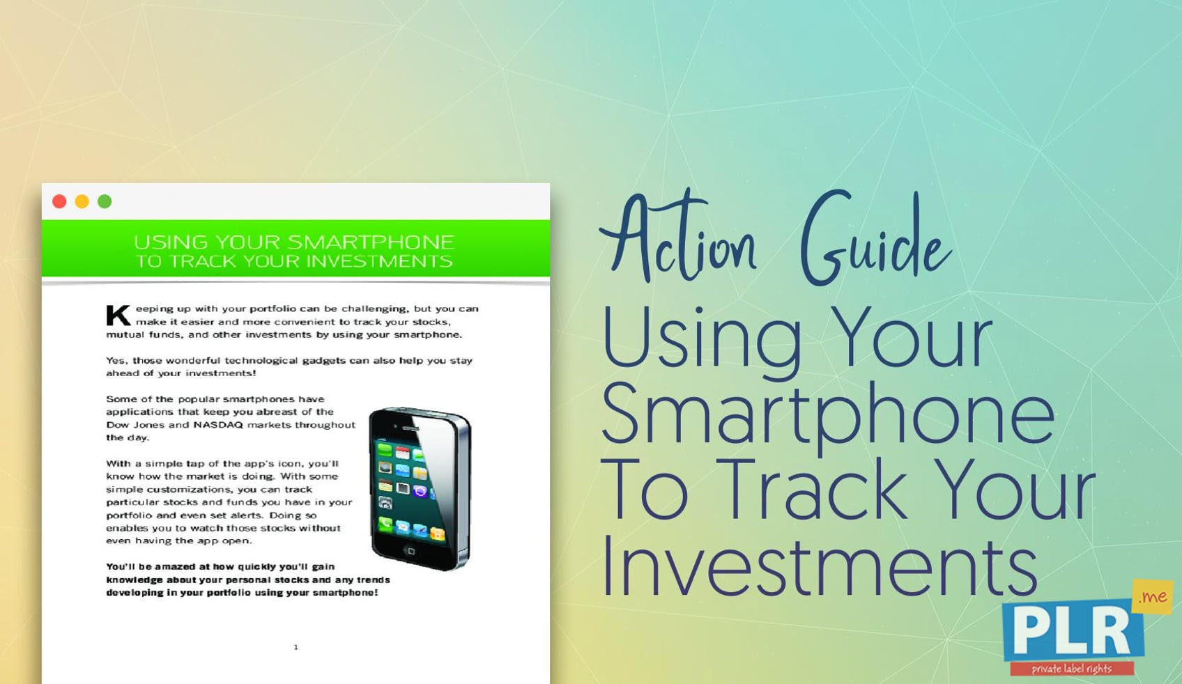 Using Your Smartphone To Track Your Investments