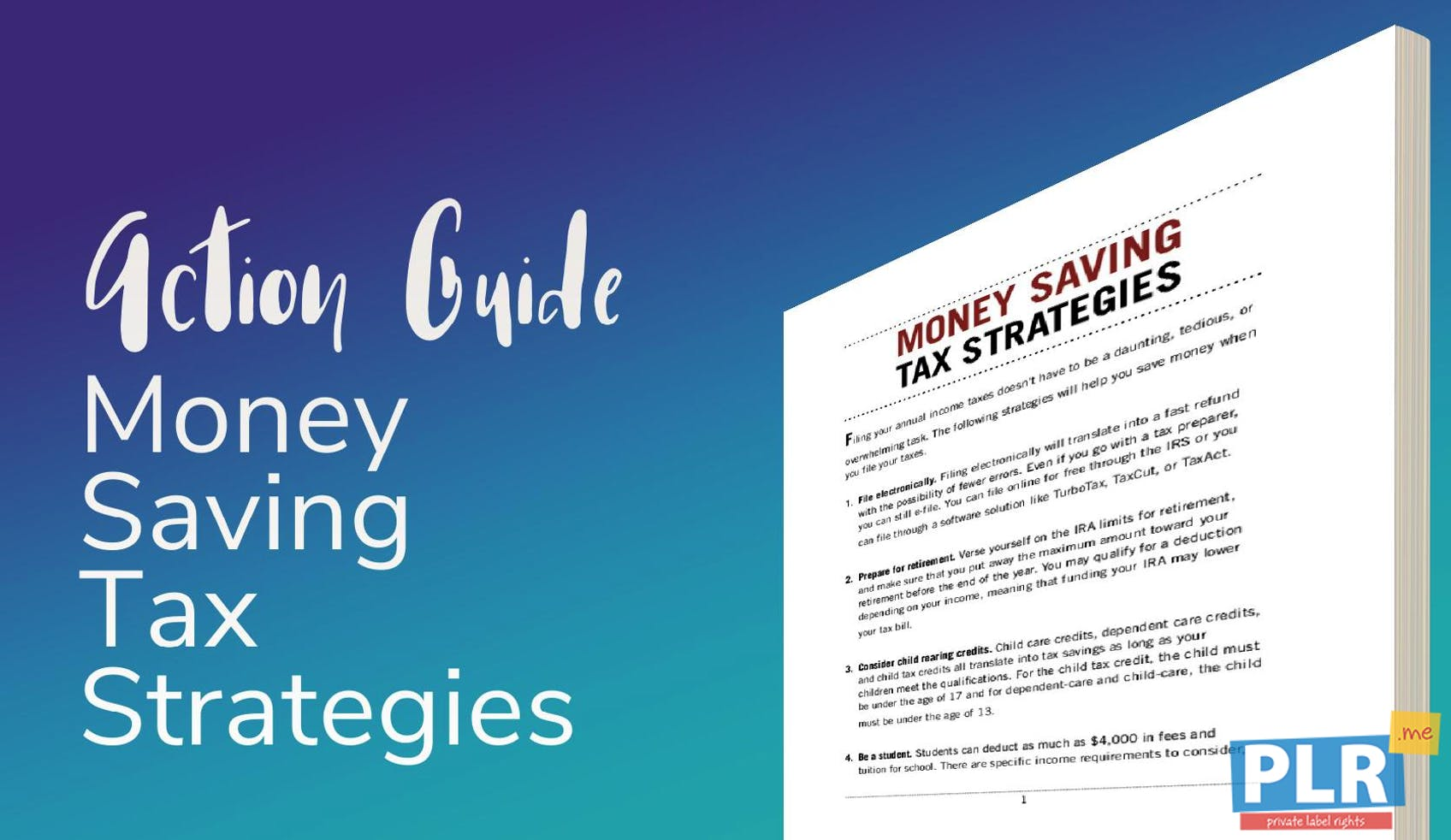 Money Saving Tax Strategies