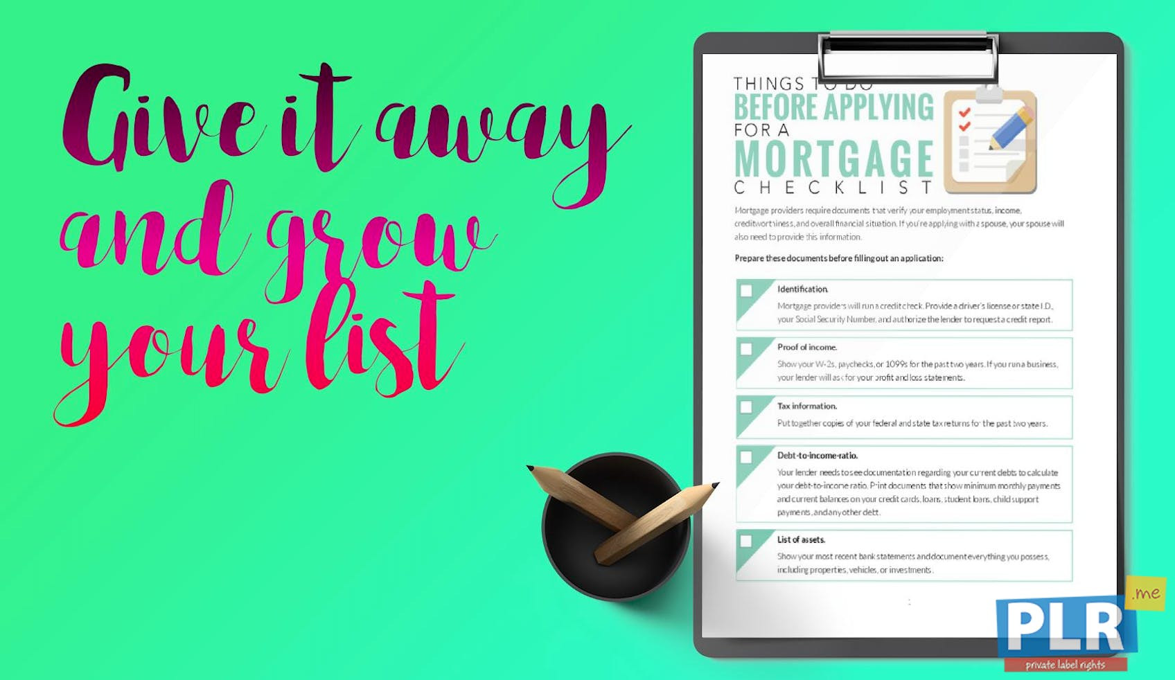 Things To Do Before Applying For A Mortgage Checklist