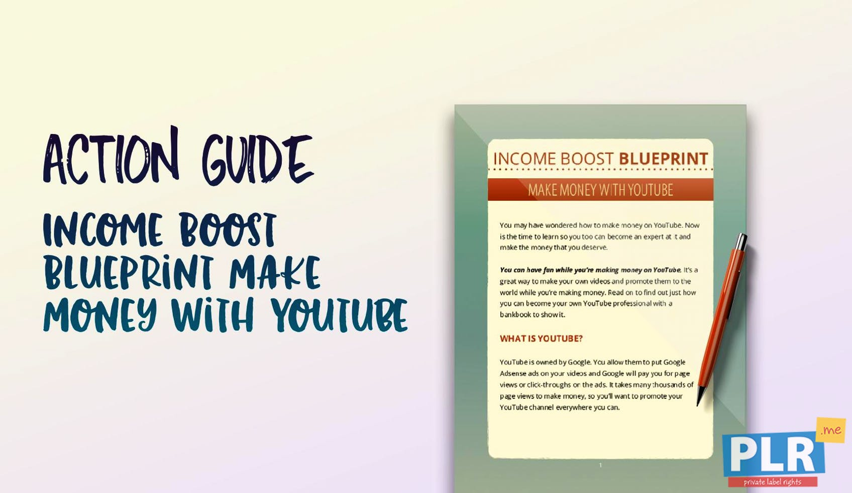 Income Boost Blueprint Make Money With Youtube
