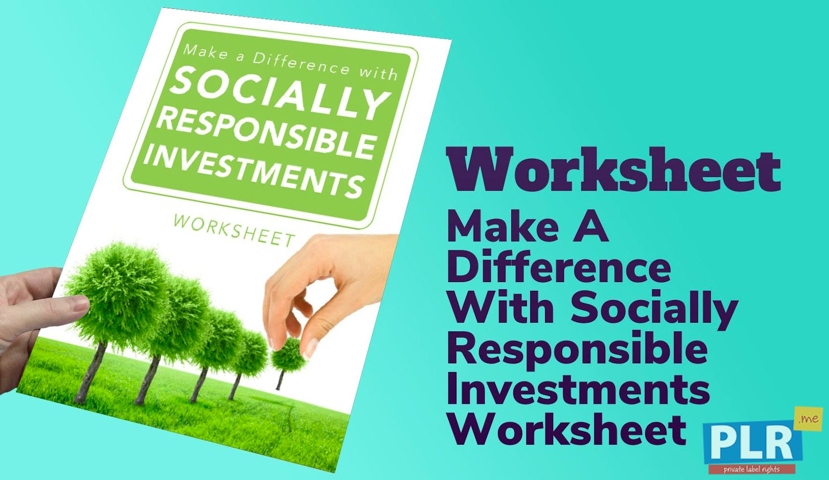 PLR Reports & eBooks - Make A Difference With Socially Responsible ...