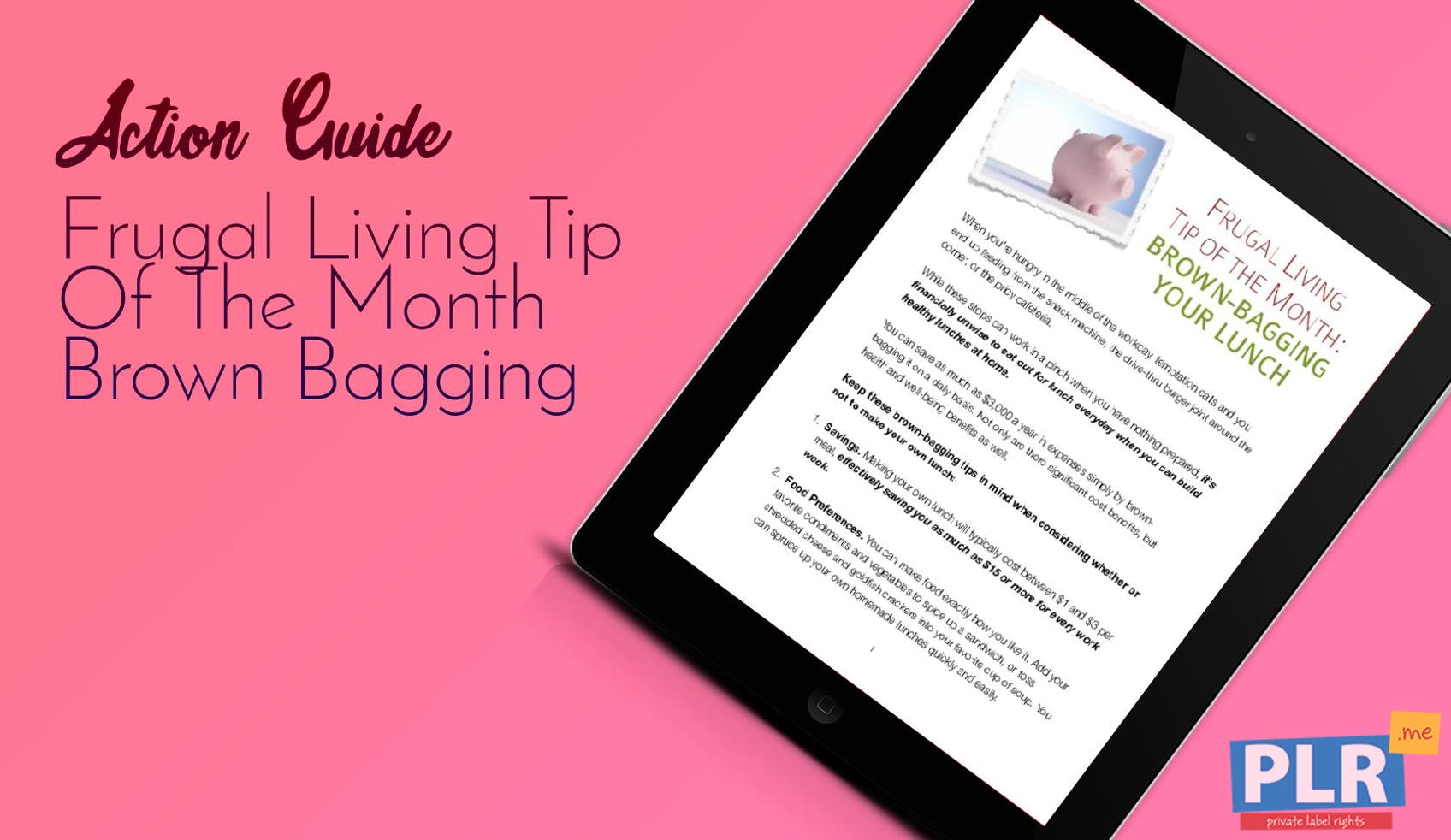Frugal Living Tip Of The Month Brown Bagging