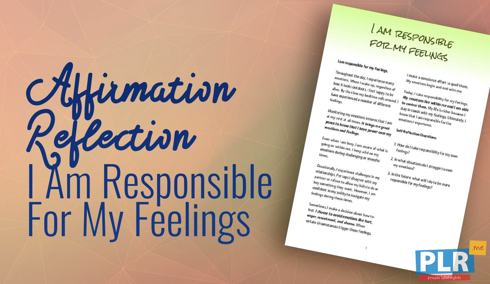 I Am Responsible For My Feelings