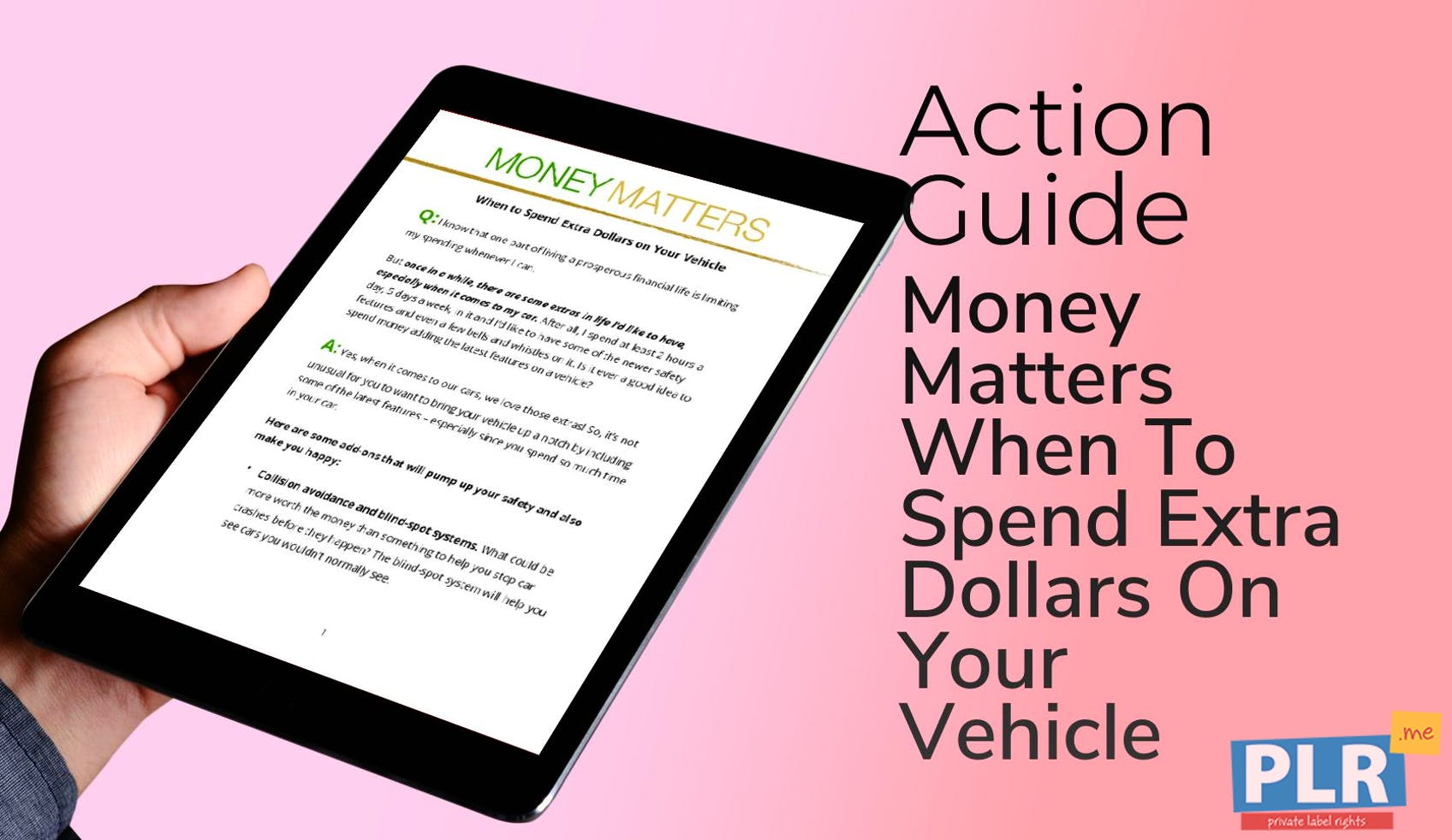 Money Matters When To Spend Extra Dollars On Your Vehicle