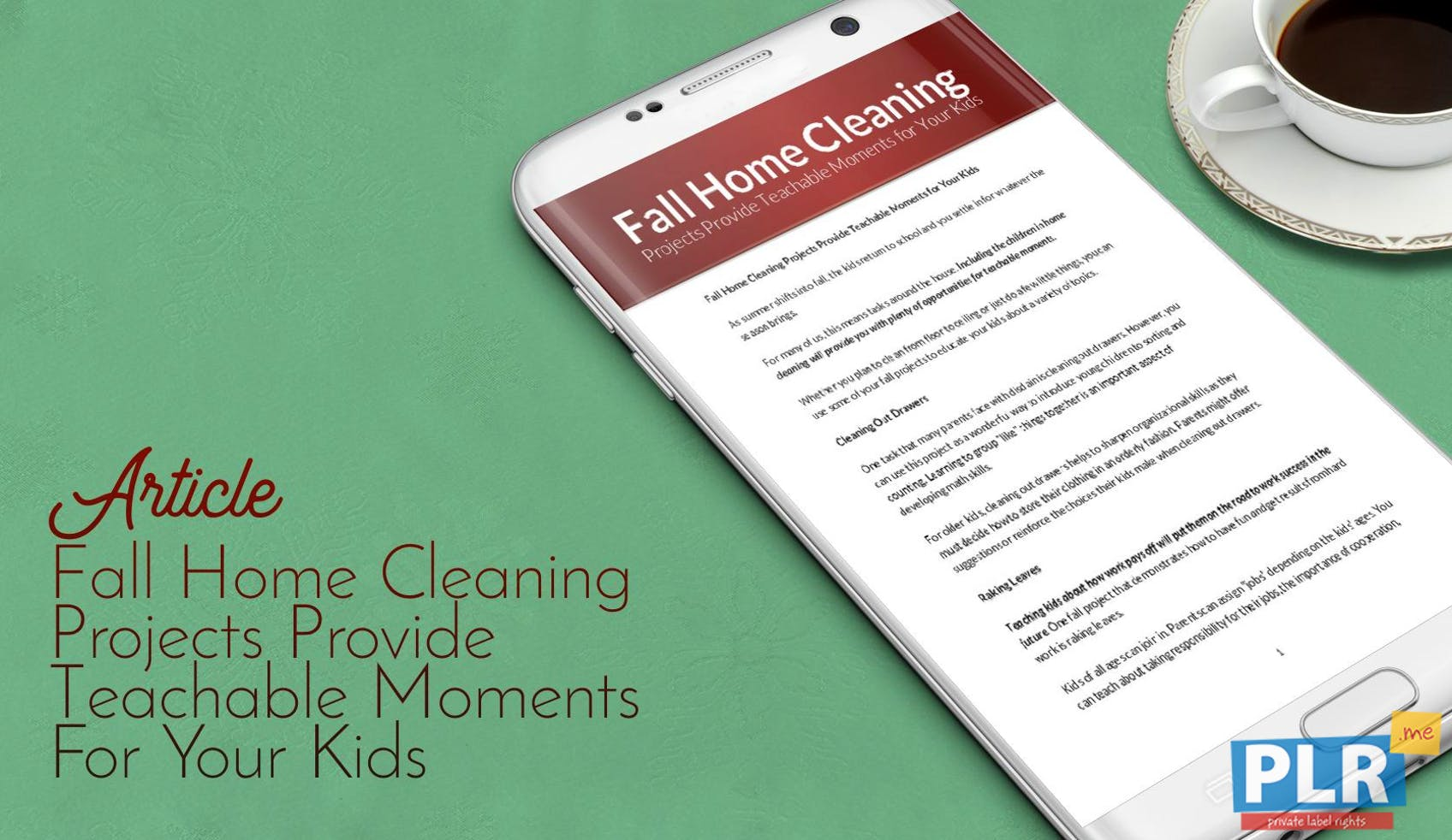 Fall Home Cleaning Projects Provide Teachable Moments For Your Kids