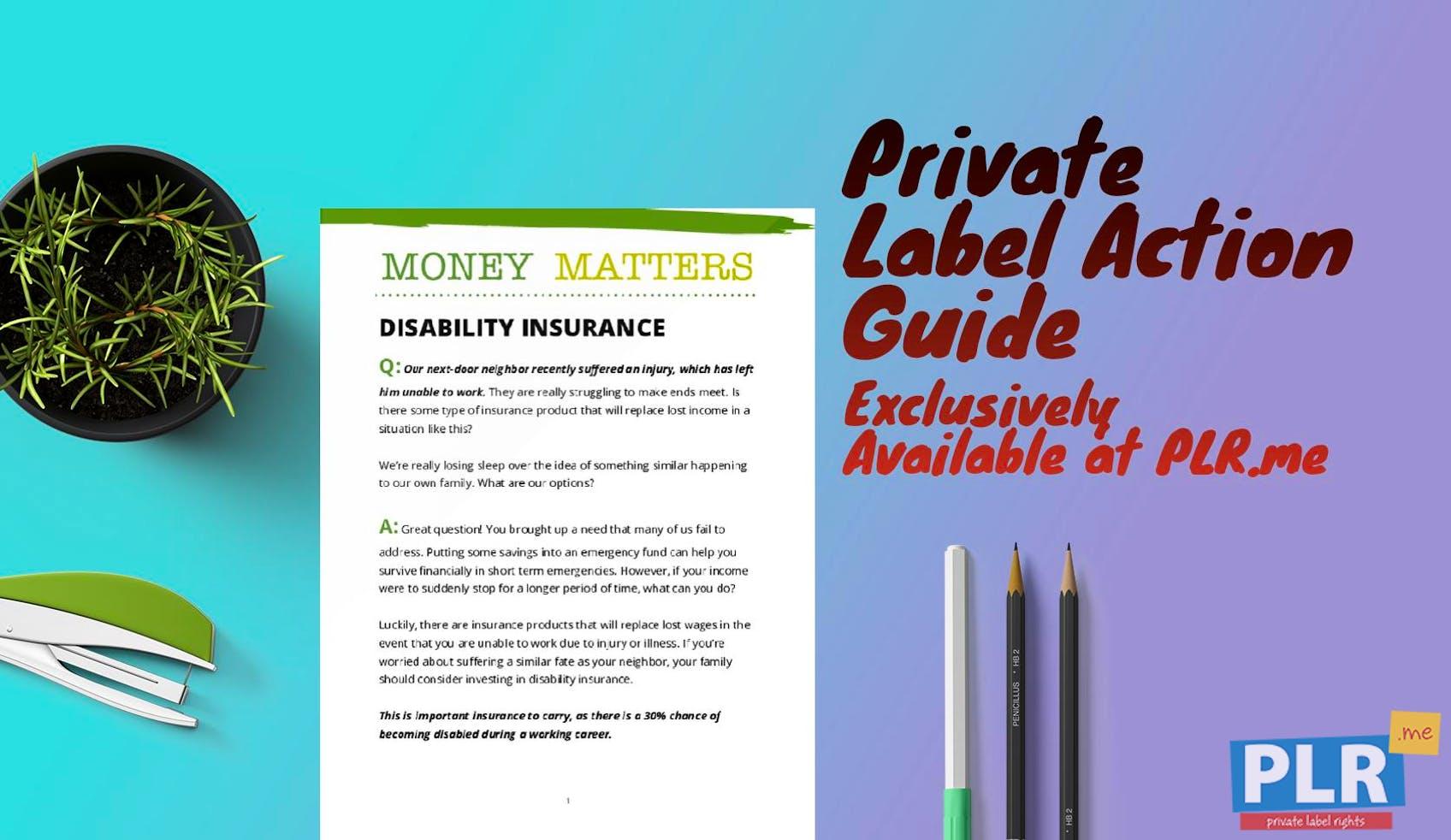 Money Matters Disability Insurance
