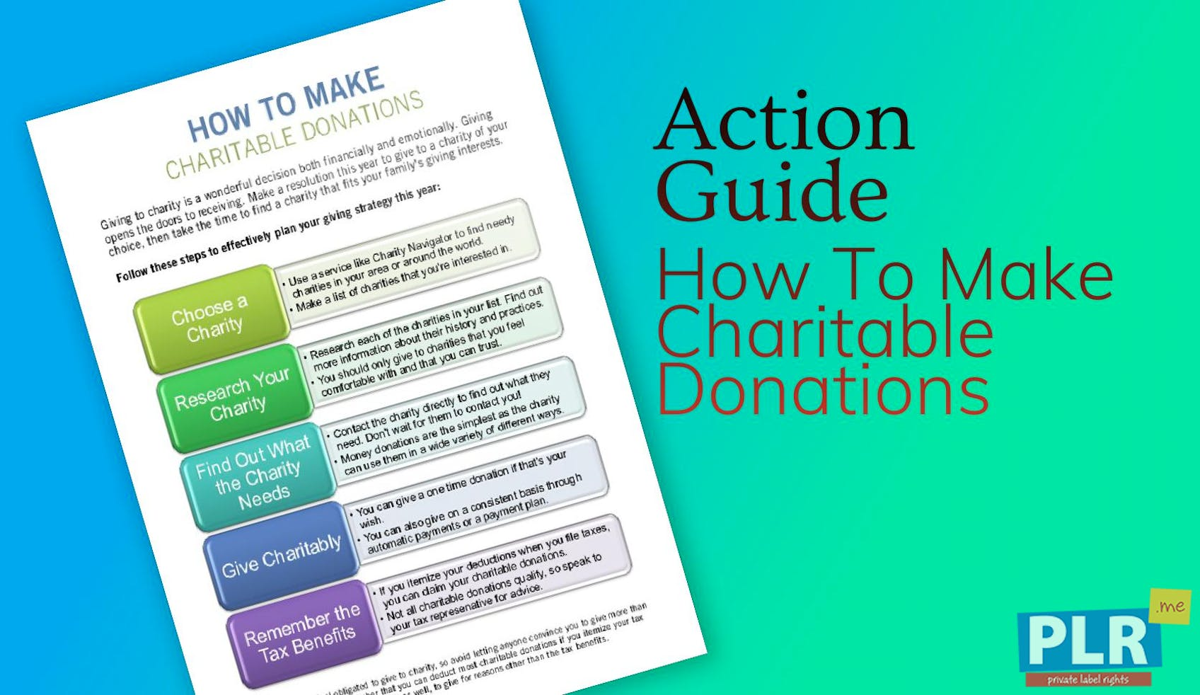 How To Make Charitable Donations