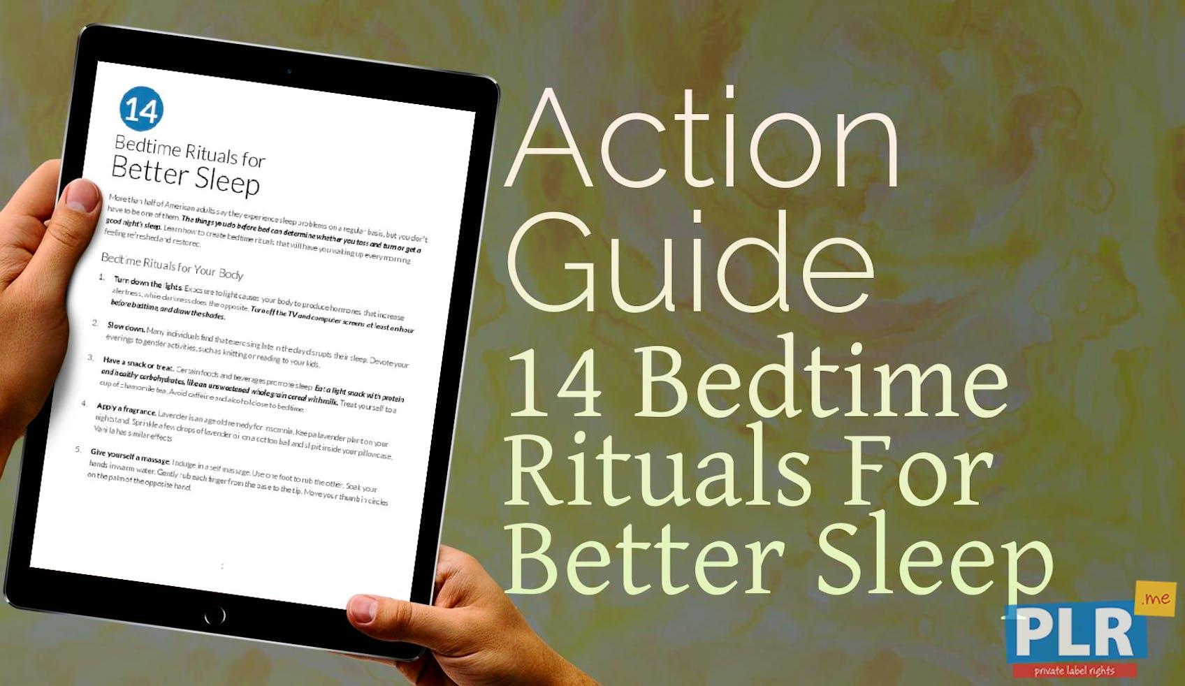 14 Bedtime Rituals For Better Sleep