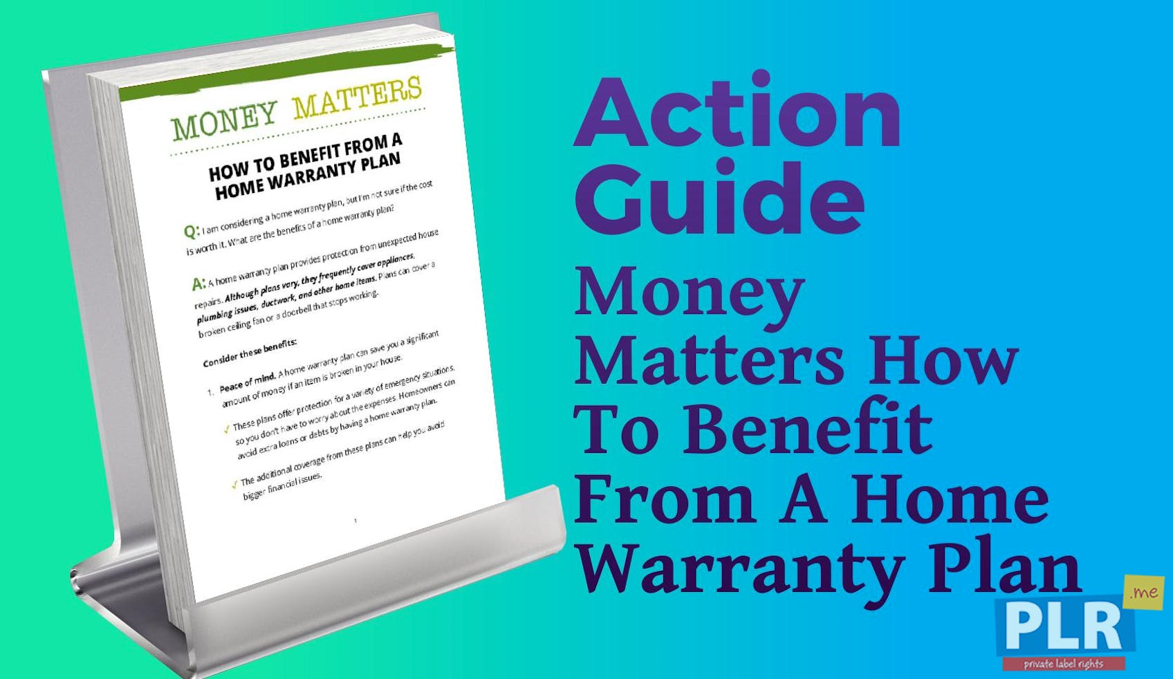 Money Matters How To Benefit From A Home Warranty Plan
