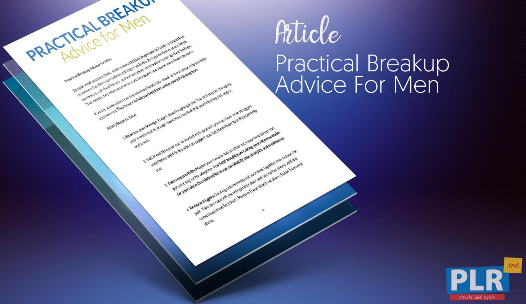 Practical Breakup Advice For Men