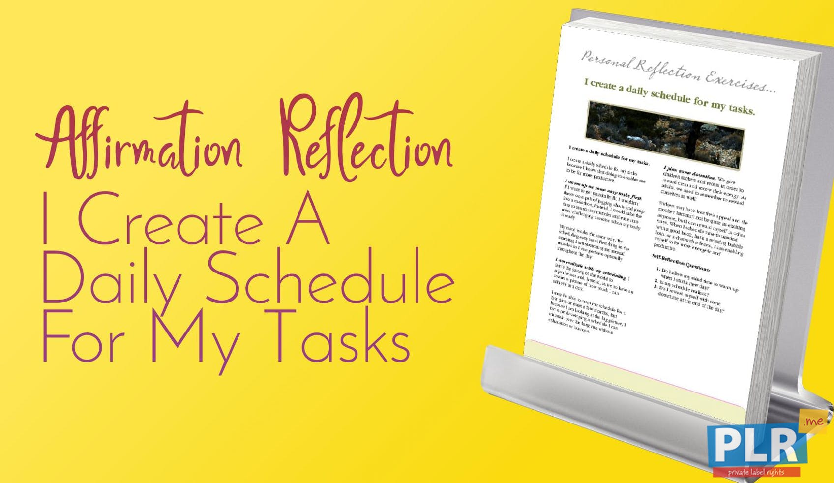 I Create A Daily Schedule For My Tasks