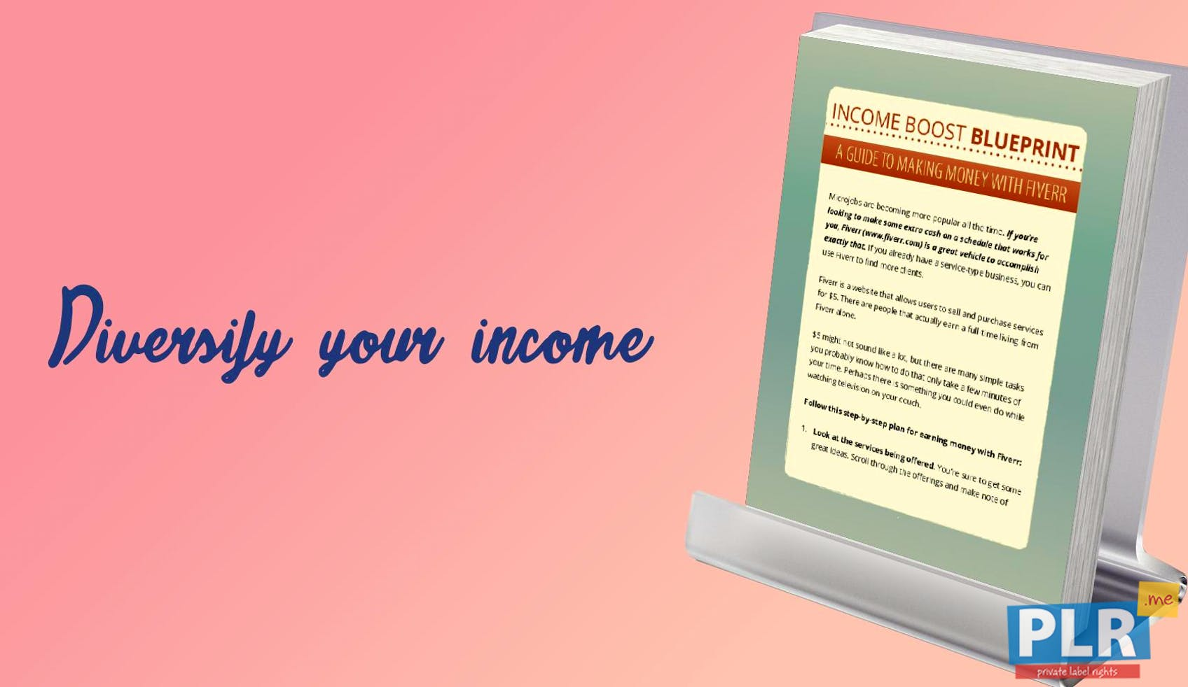 Plr action guides coaching handouts lead magnets income boost income boost blueprint make money with fiverr malvernweather Image collections