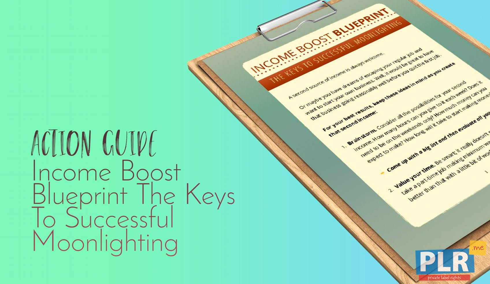 Income Boost Blueprint The Keys To Successful Moonlighting