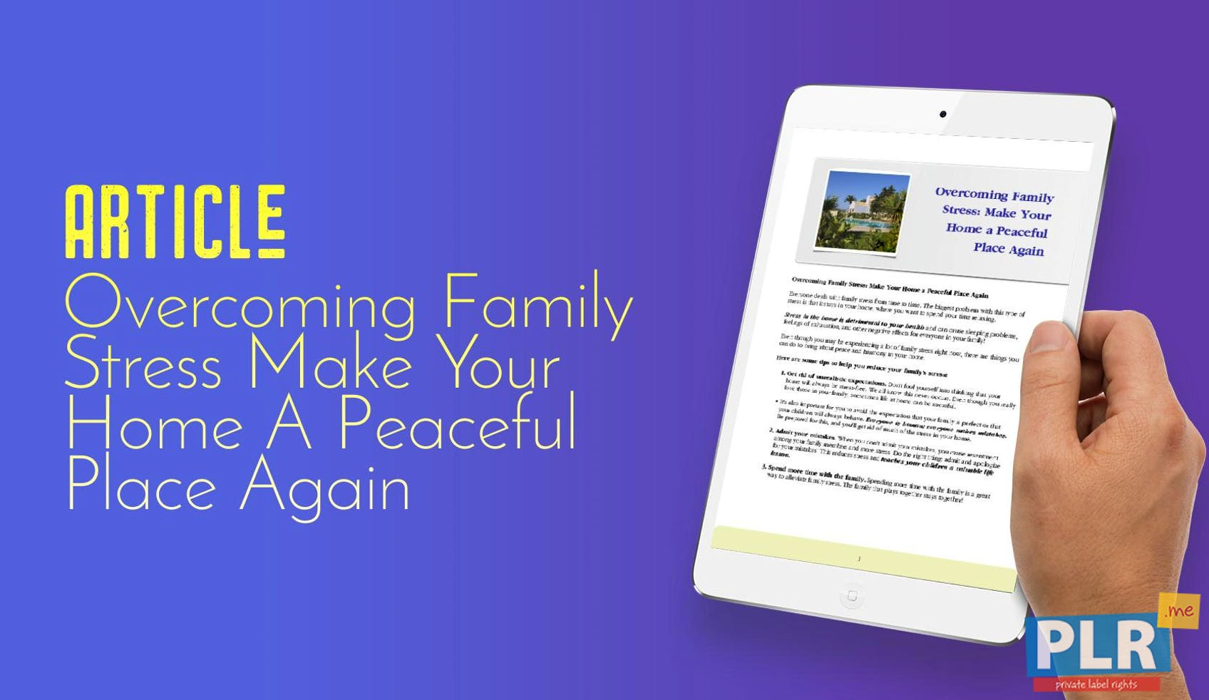 Plr Articles Blog Posts Overcoming Family Stress Make Your Home