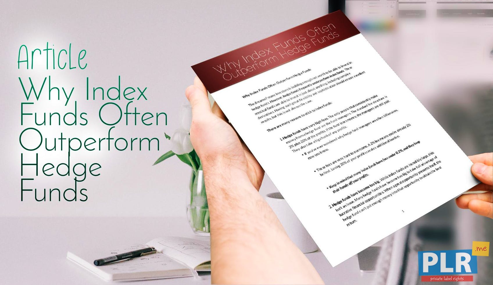 Why Index Funds Often Outperform Hedge Funds