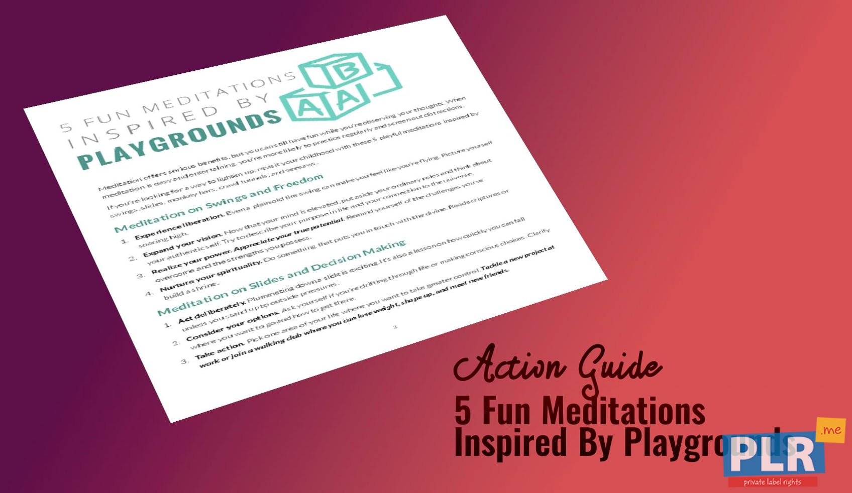 5 Fun Meditations Inspired By Playgrounds